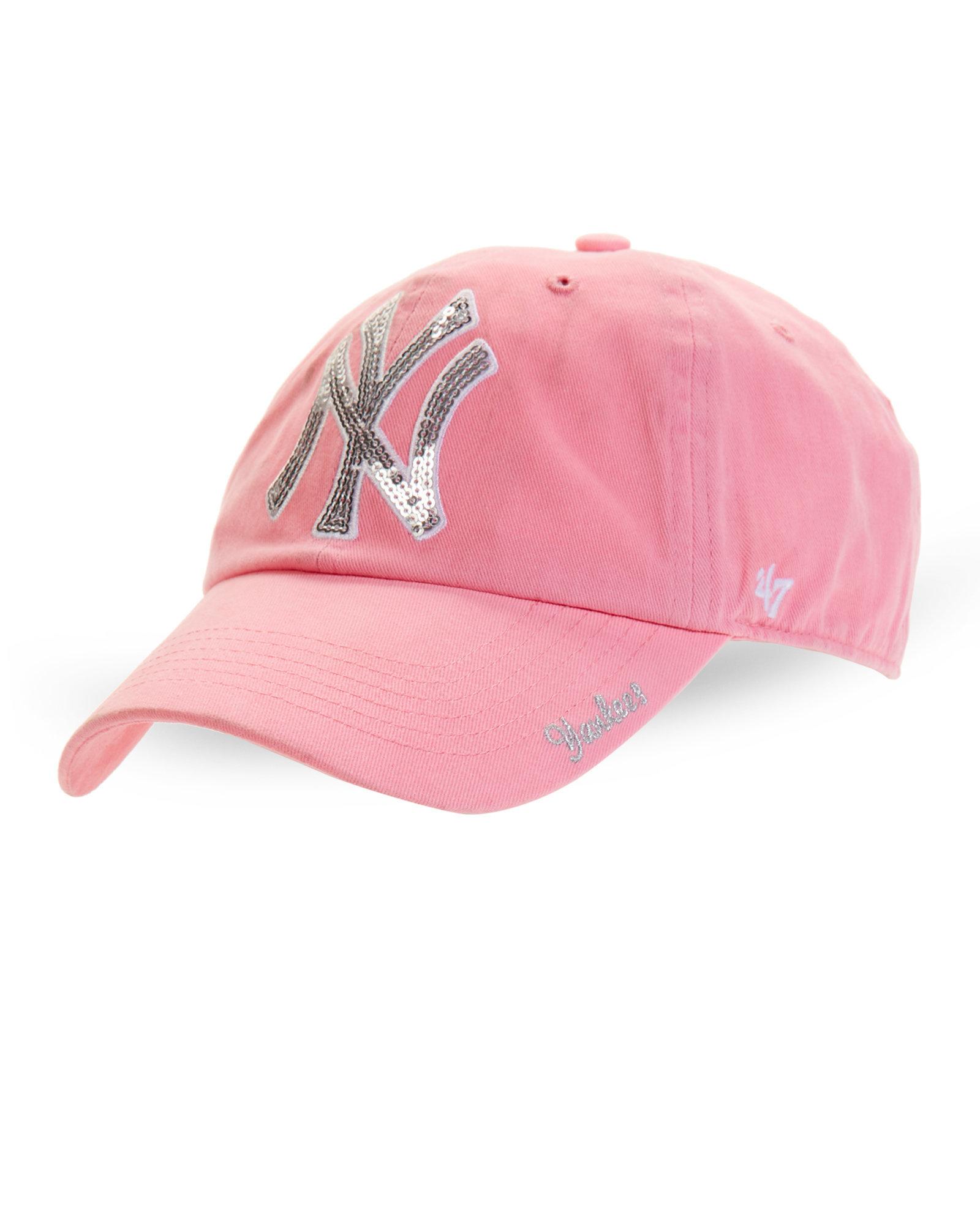 47 Brand New York Yankees Sparkle Baseball Cap In Pink