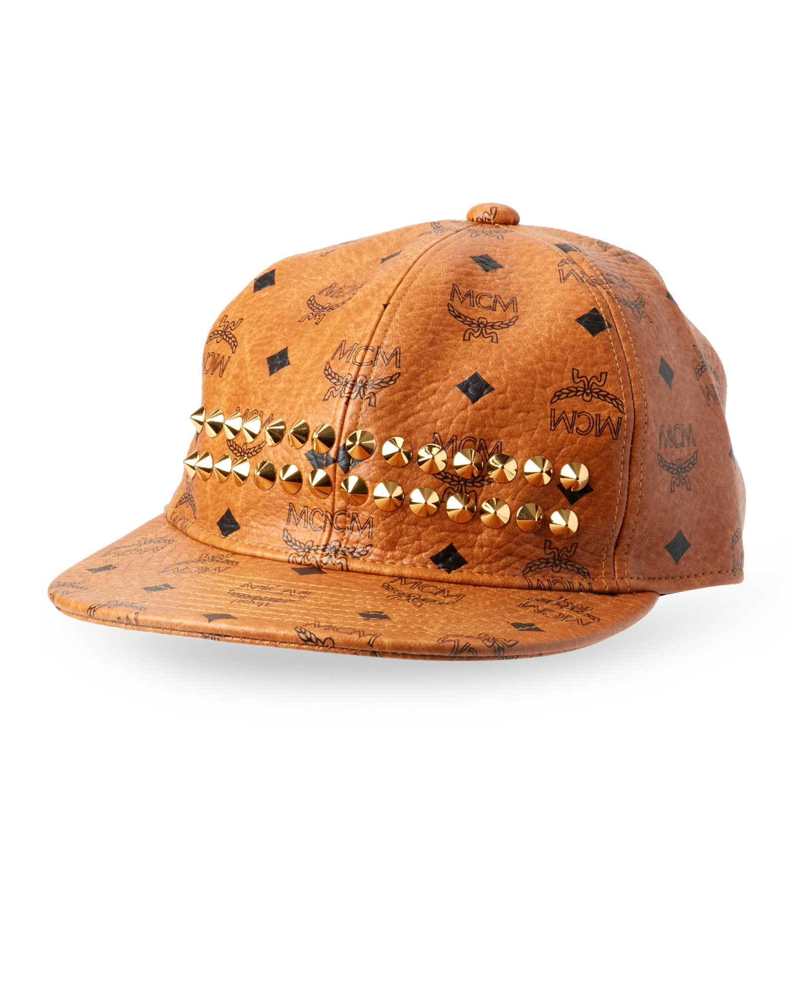 ... norway lyst mcm cognac studded stark cap in brown 0ddff 486c6 ... a2f3f853359e