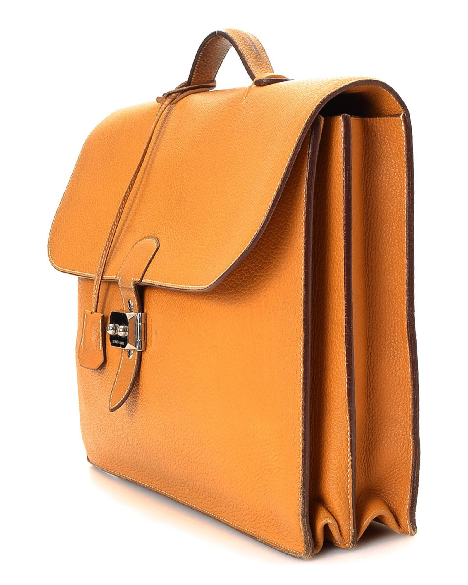 7dd312801024 Lyst - Hermès Sac A Depeches 41 Briefcase - Vintage in Metallic