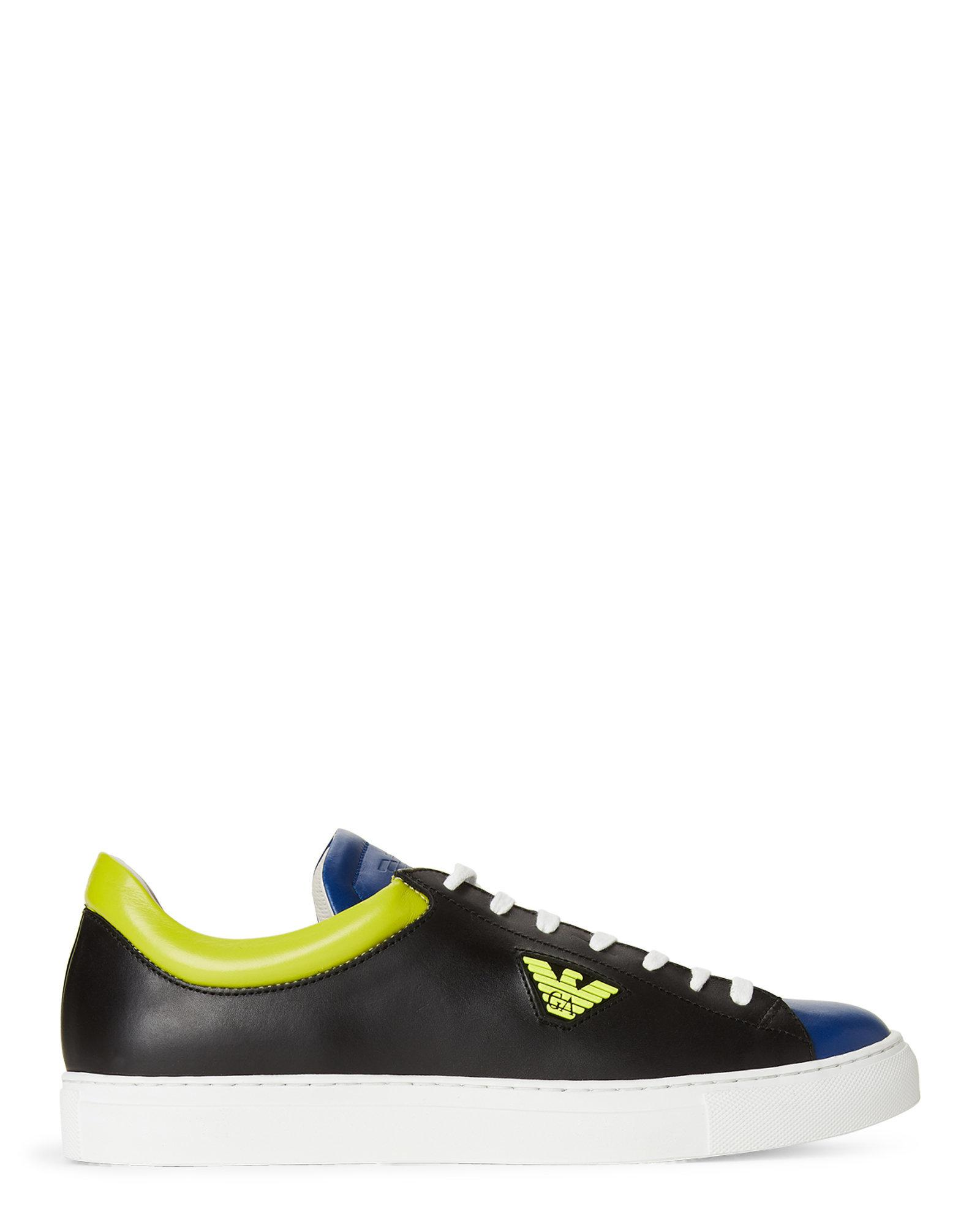 Emporio Armani Trainers - blue/lime/black c17J1kzW