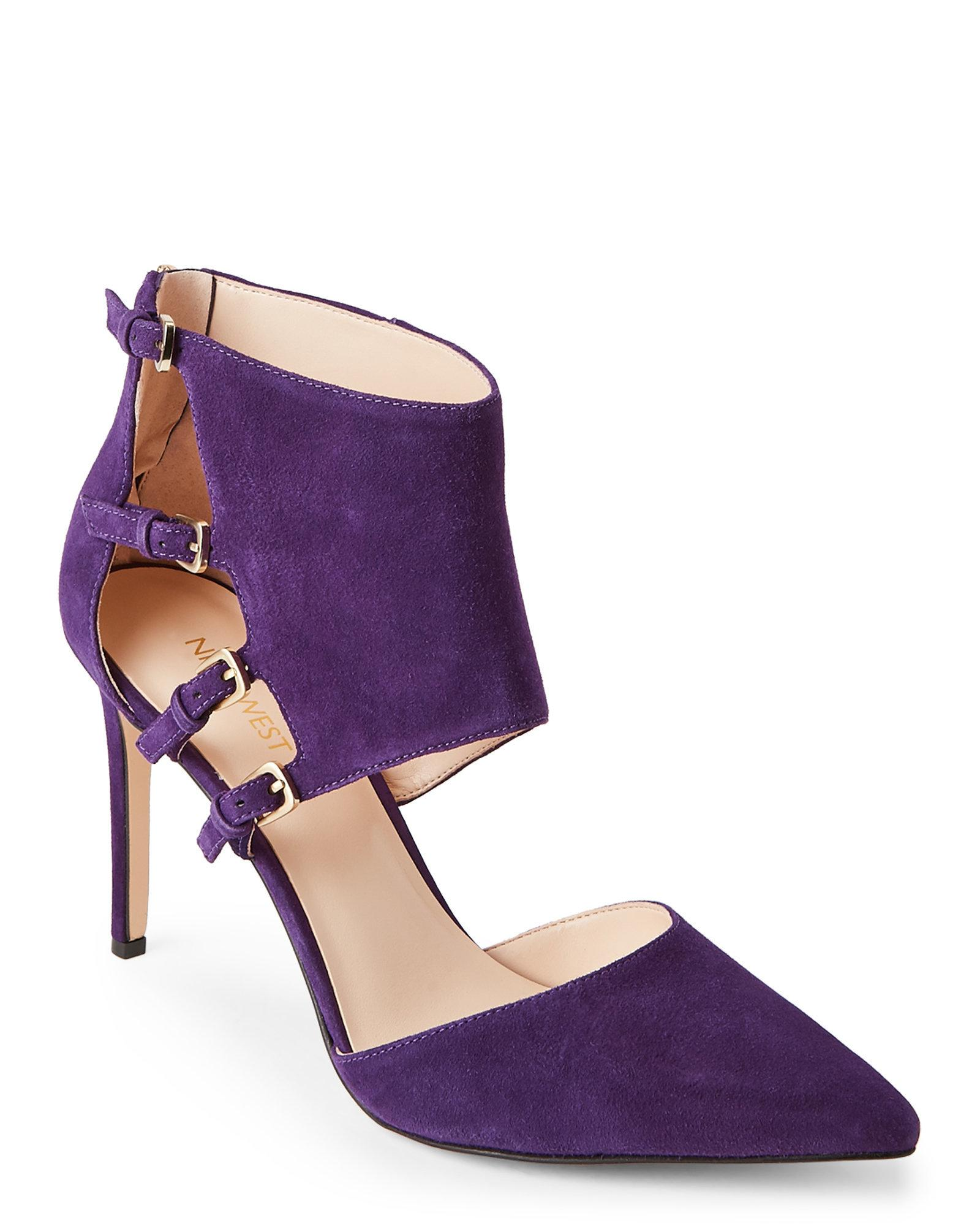Lyst - Nine west Purple Trust Me Buckled Pointed Toe Pumps in Purple