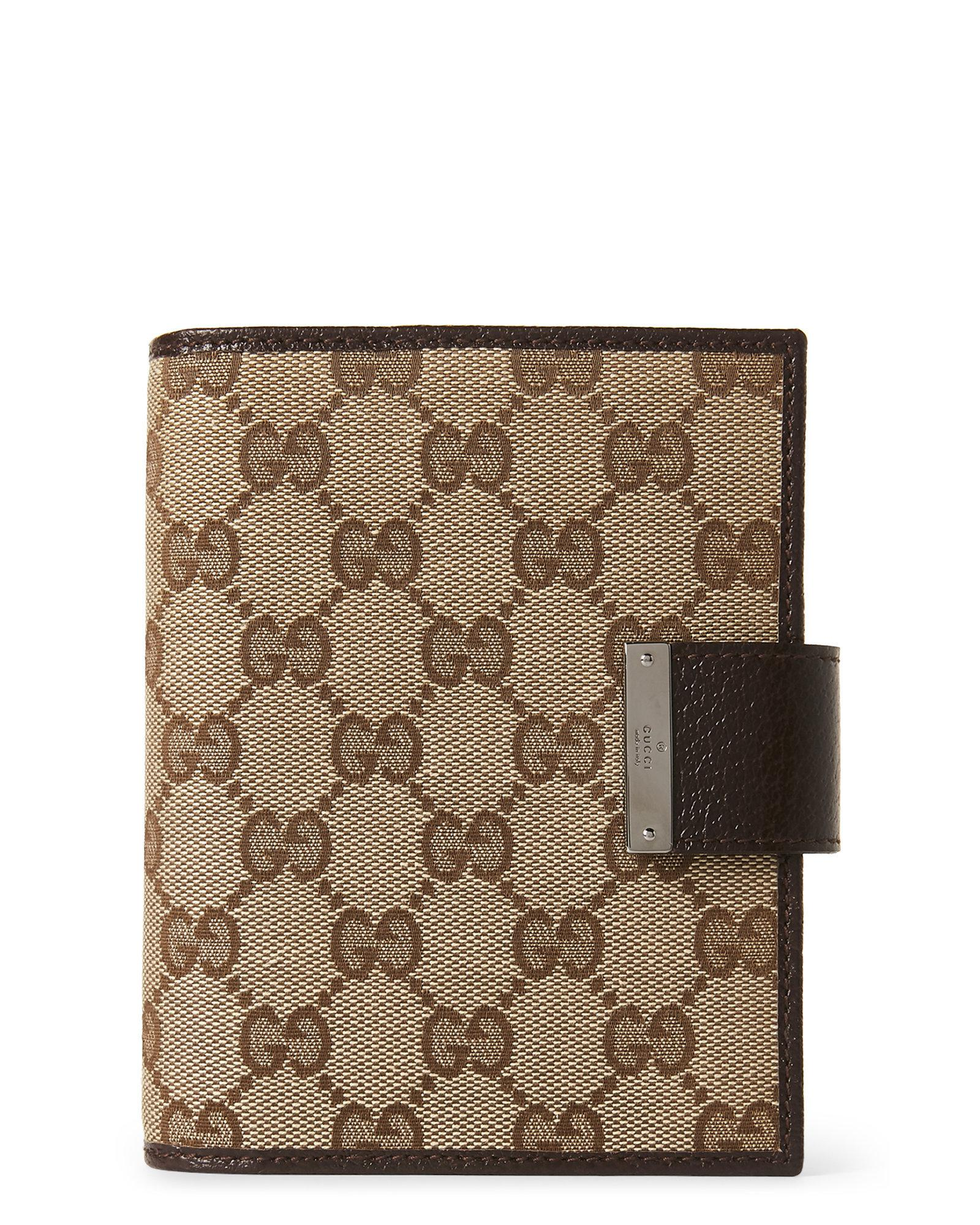 78aaa089a Lyst - Gucci Gg Canvas Agenda Cover in Brown