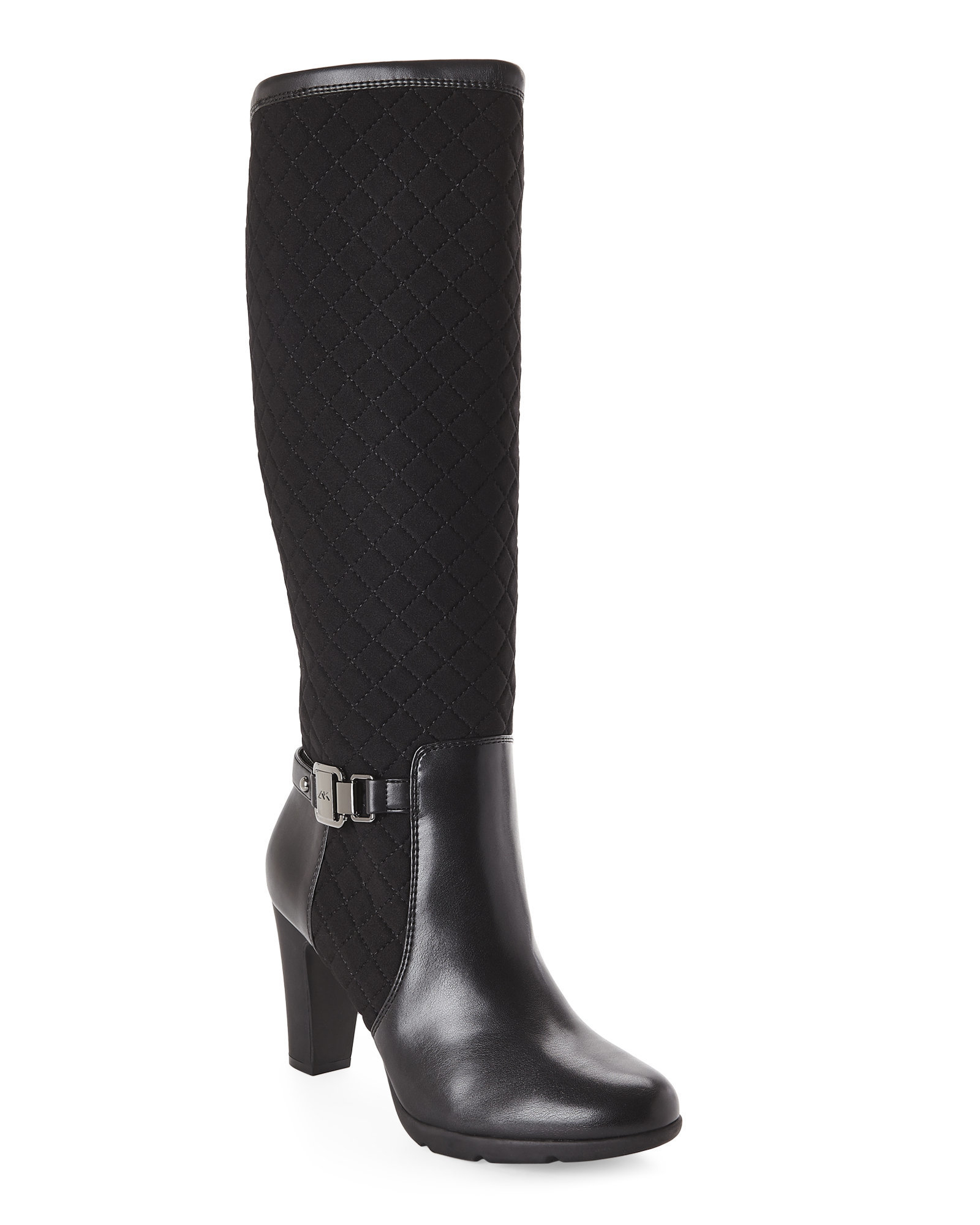 Ak anne klein Black Xtended Tall Boots in Black | Lyst
