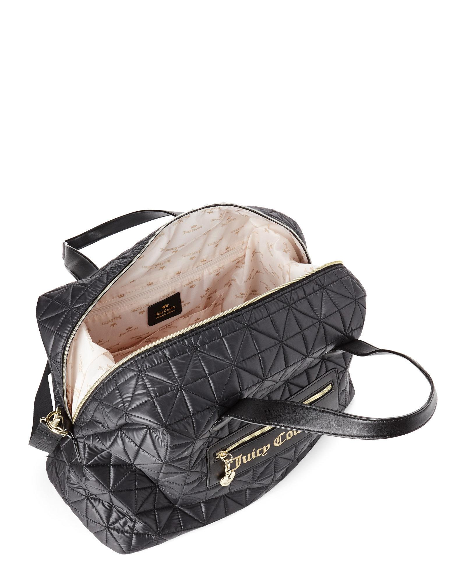 Lyst - Juicy Couture Black Starburst Quilted Weekender in Black 421bba18e