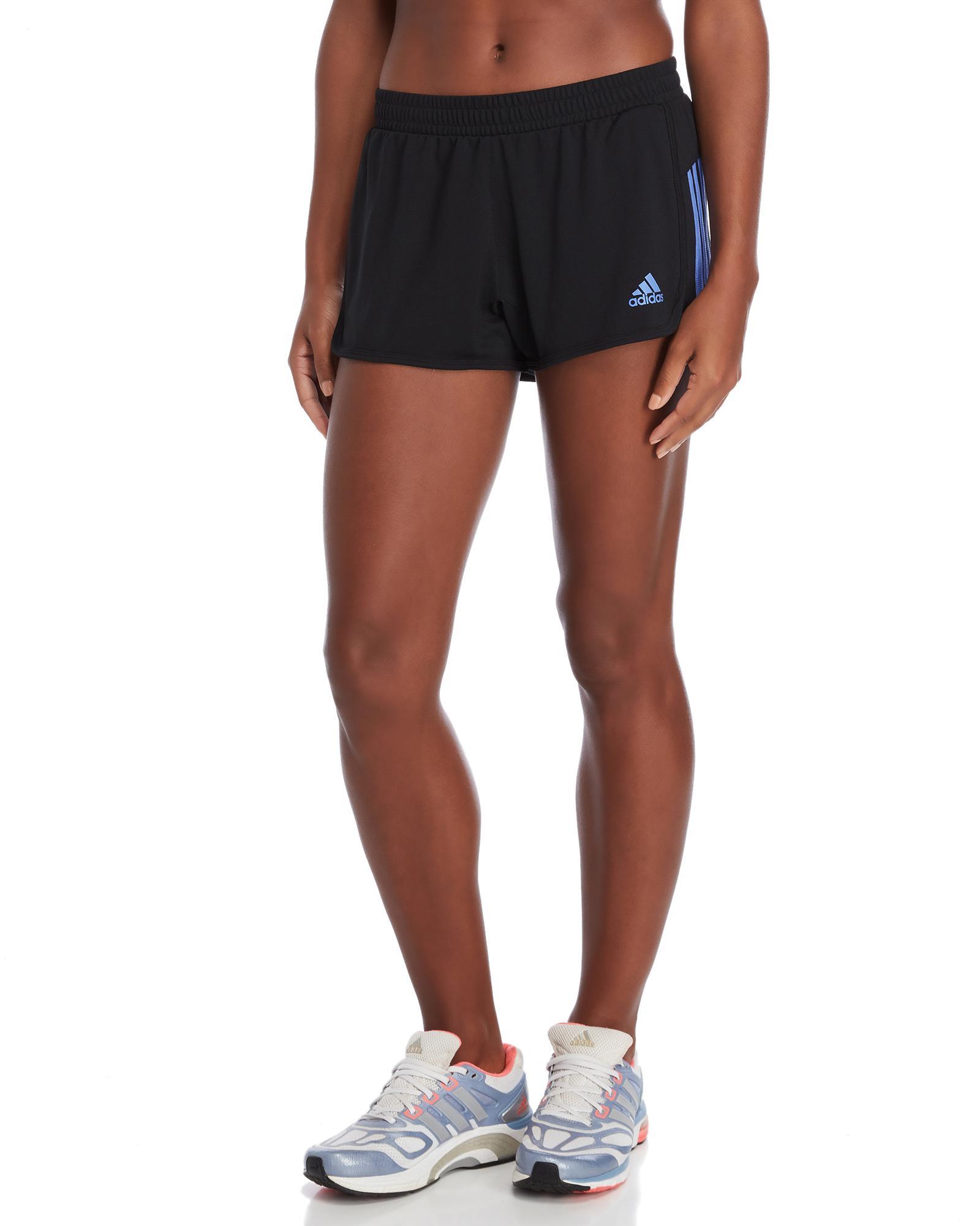 11b51dc917b3 Adidas - Black Stripe Running Shorts - Lyst. View fullscreen