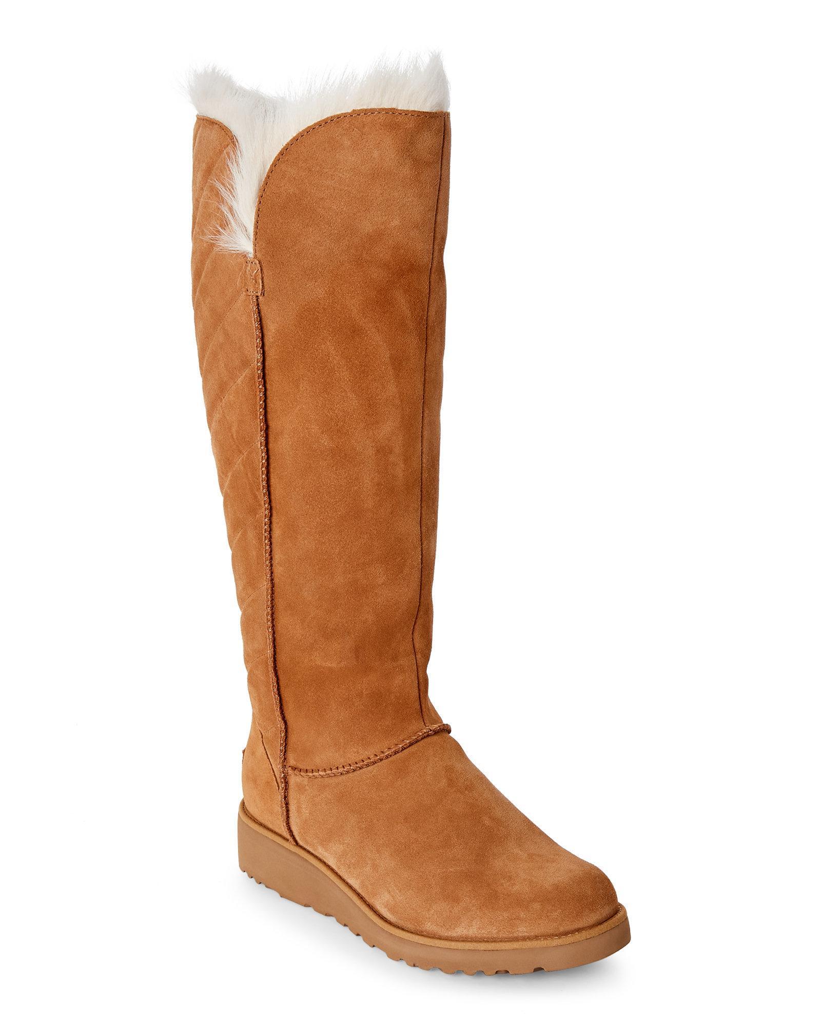 ebd90d240 UGG Chestnut Rosalind Tall Sheepskin Boots in Brown - Lyst