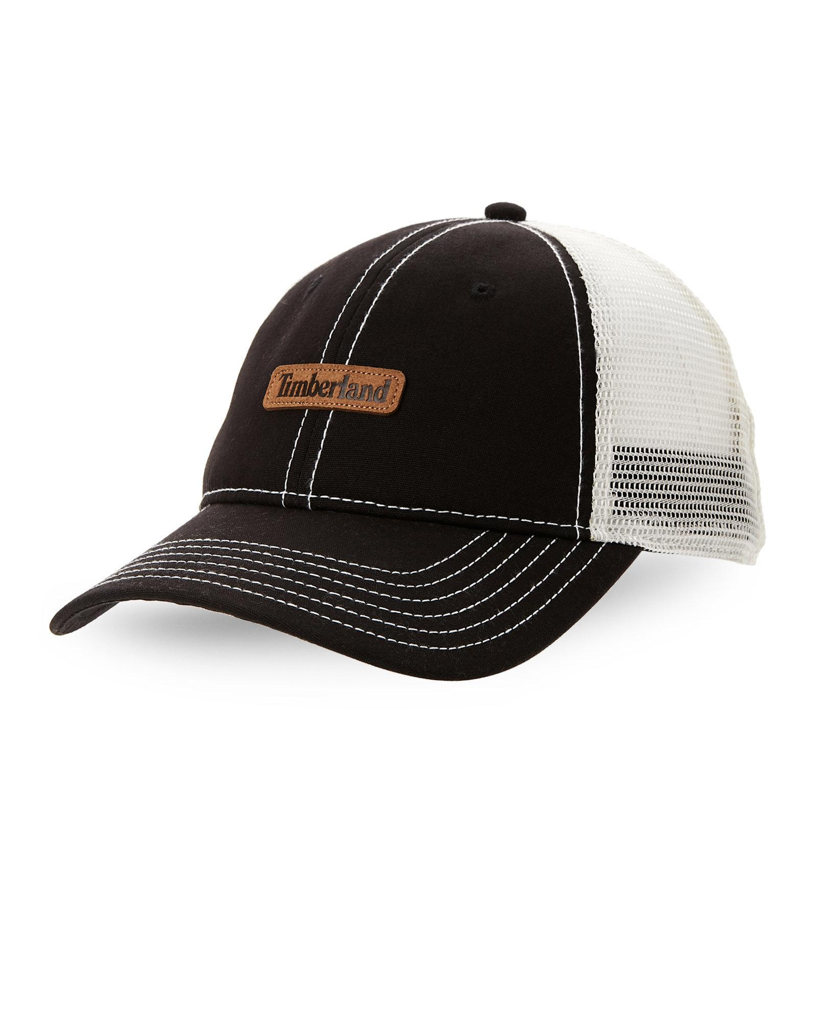 796e7ba0 Timberland Trucker Hat in Black for Men - Lyst