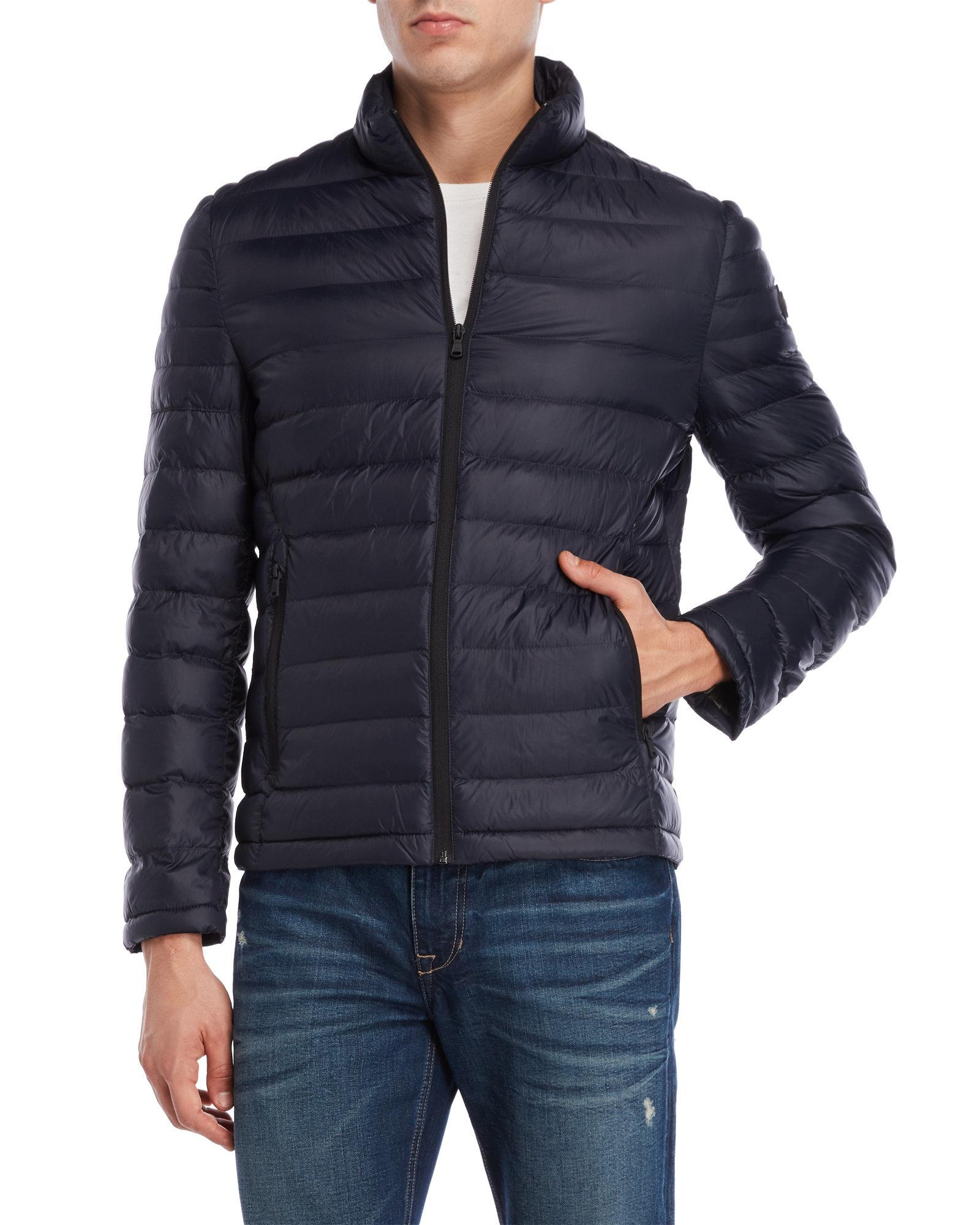 ef3bef9bc33e Lyst - Michael Kors Quilted Down Jacket in Blue for Men