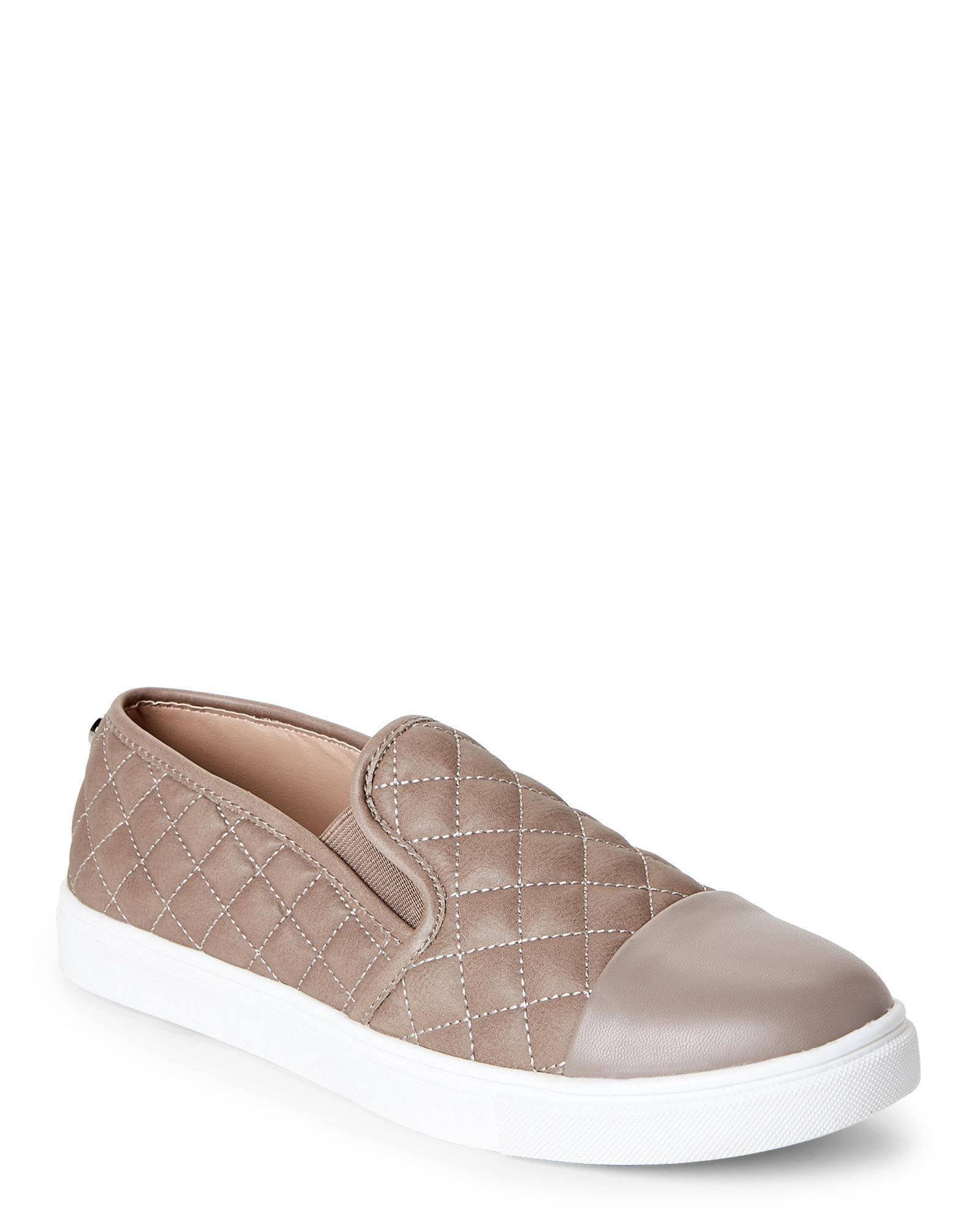 6e930bb73de99e Lyst - Steve Madden Grey Zander Quilted Slip On Sneakers in Gray
