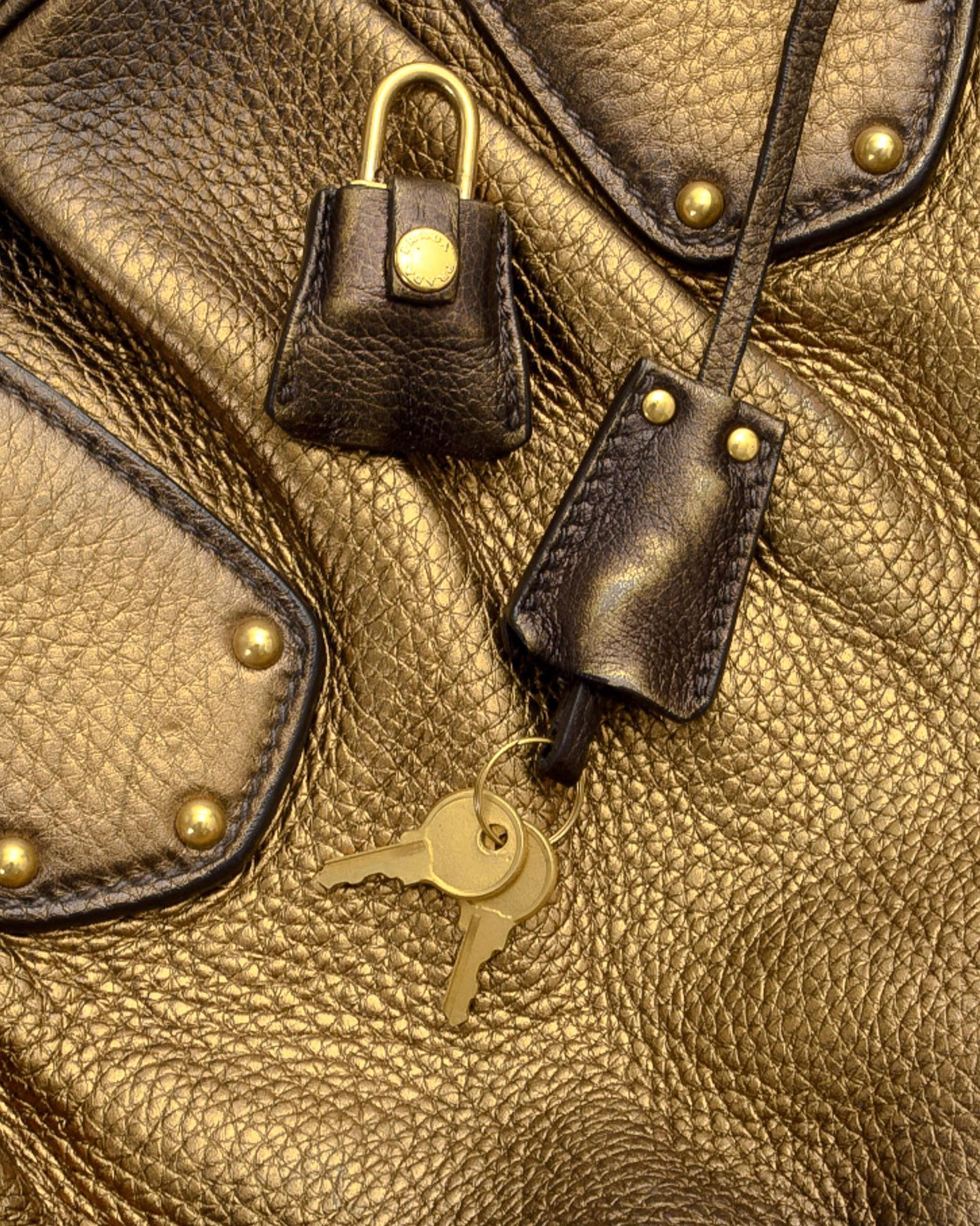5ca86db2e3ad Lyst - Prada Vitello Daino Two Way Handbag - Vintage in Metallic