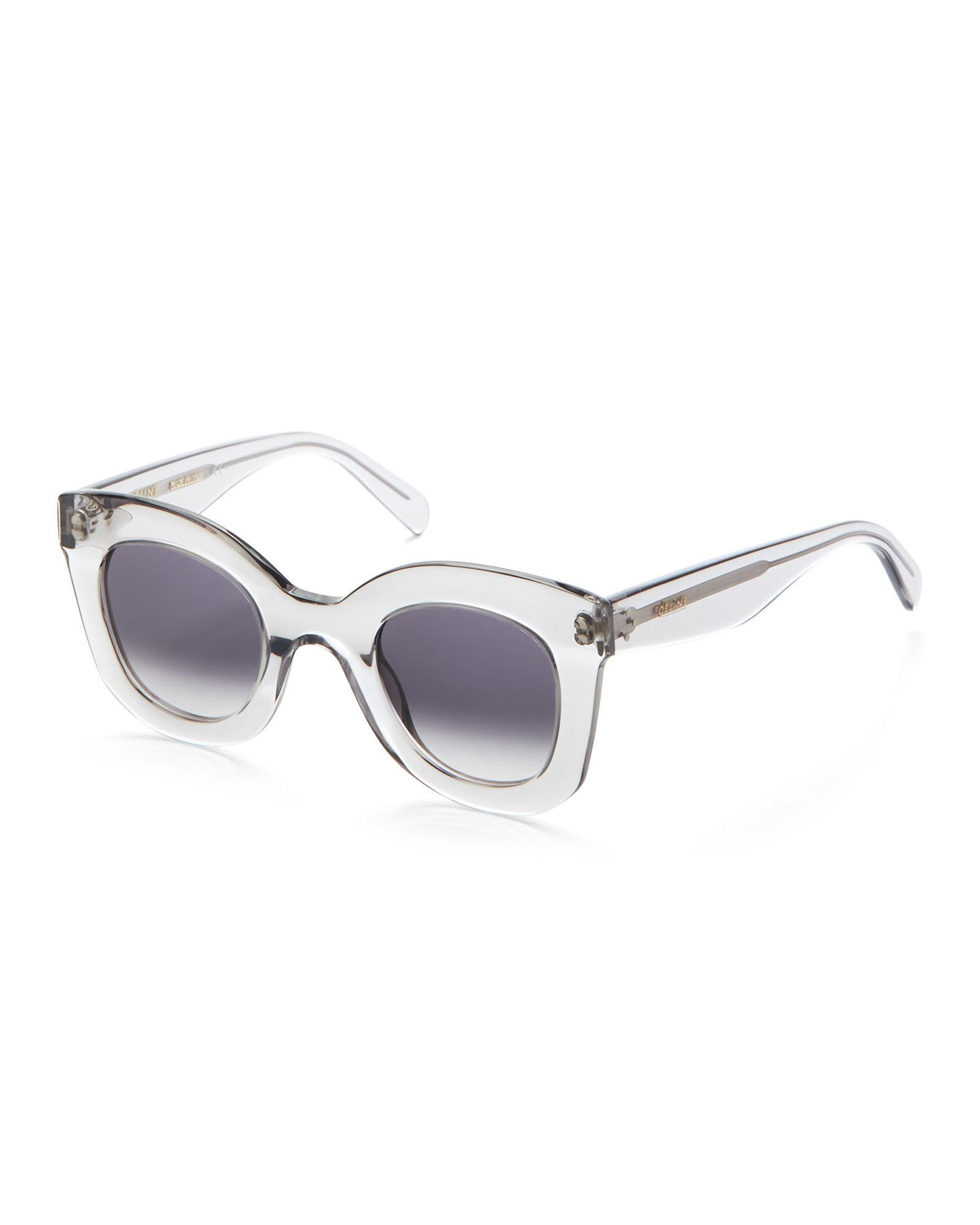 e426a9def34 Lyst - Céline Clear Round Cat Eye Sunglasses