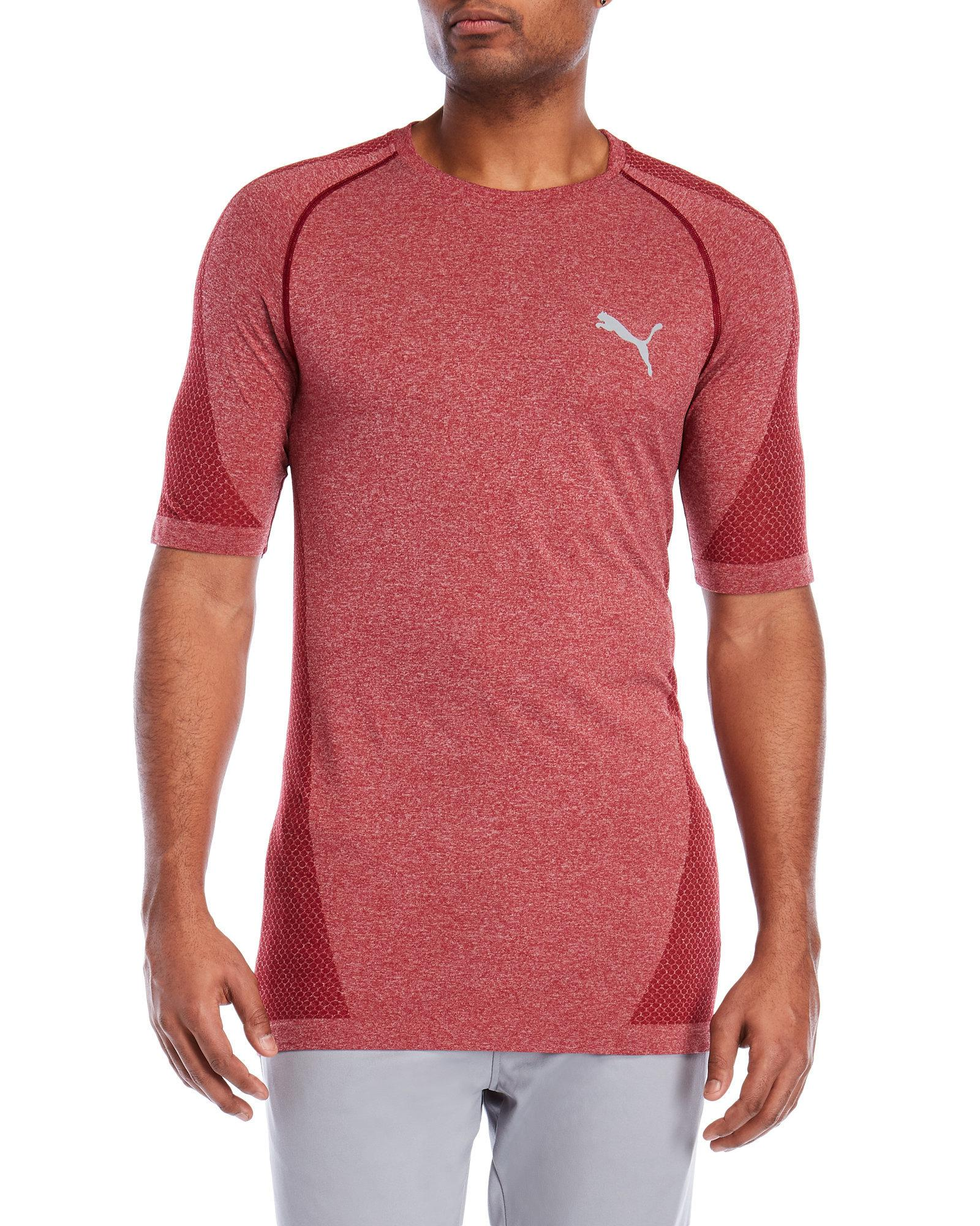 70ab3c1c4ff PUMA Evoknit Better Tee in Red for Men - Lyst