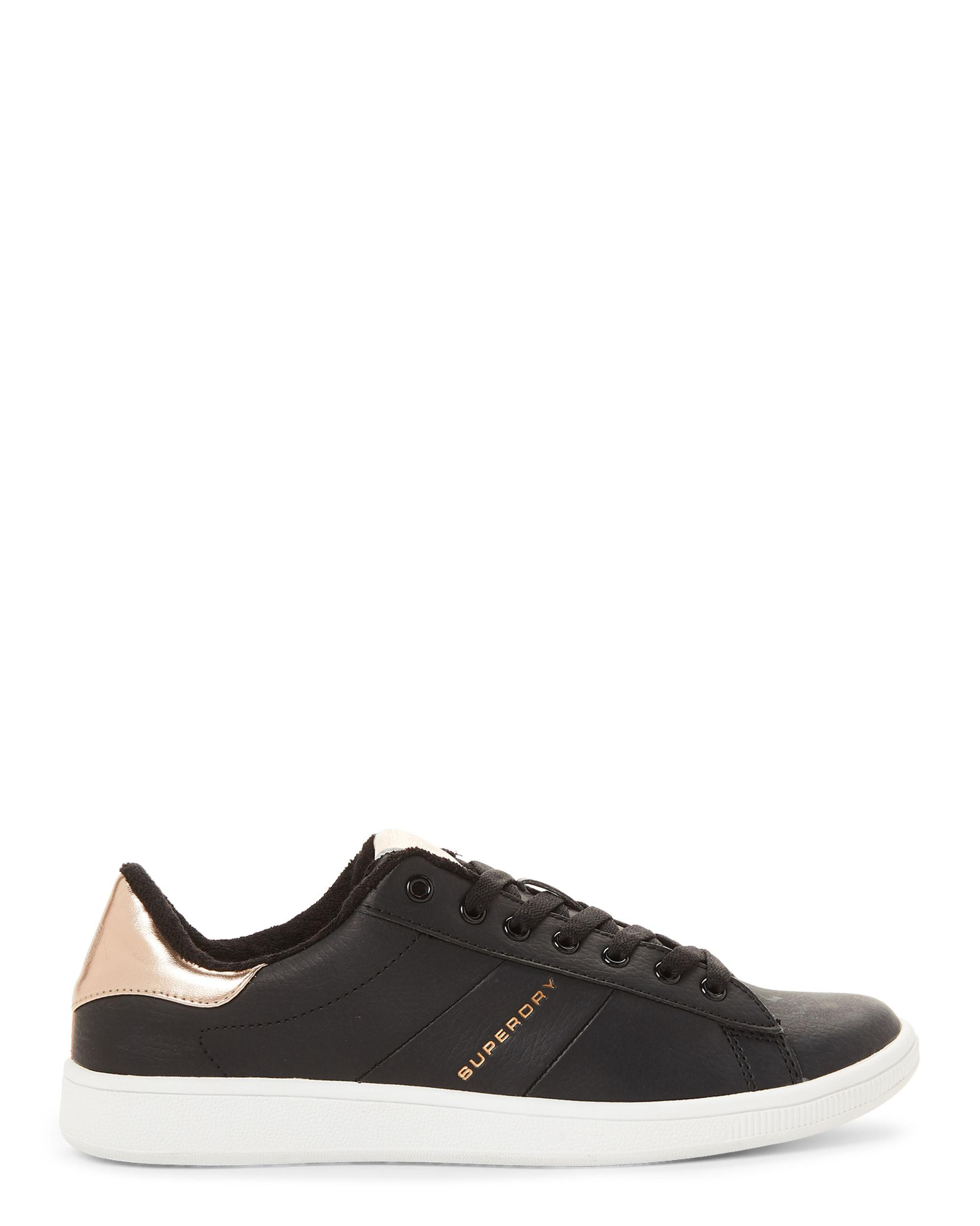 c8a7712939a6 Lyst - Superdry Black   Rose Gold Harper Low-top Sneakers in Black - Save  34%
