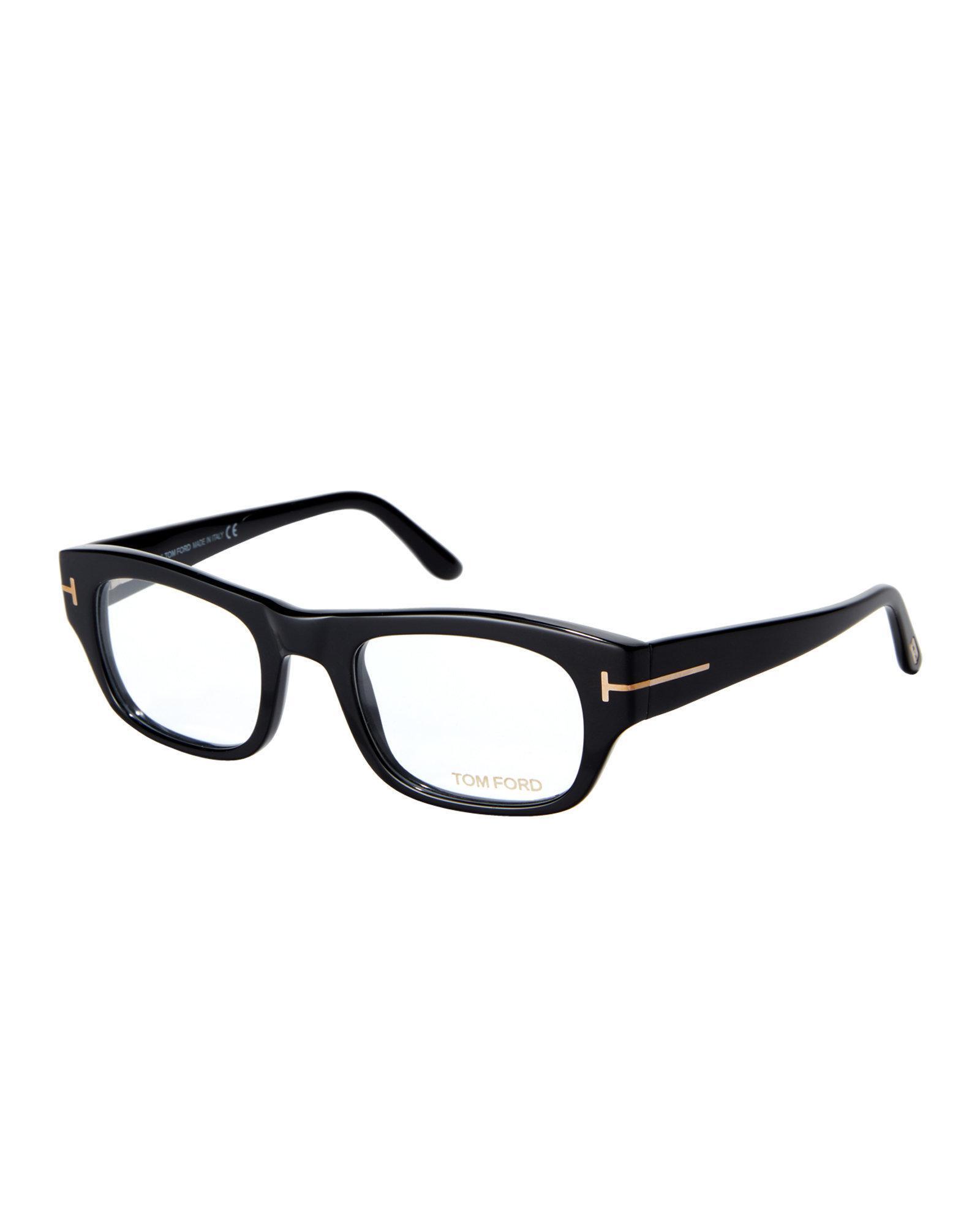 Lyst - Tom Ford Tf5415 Black Rectangular Frames in Black for Men