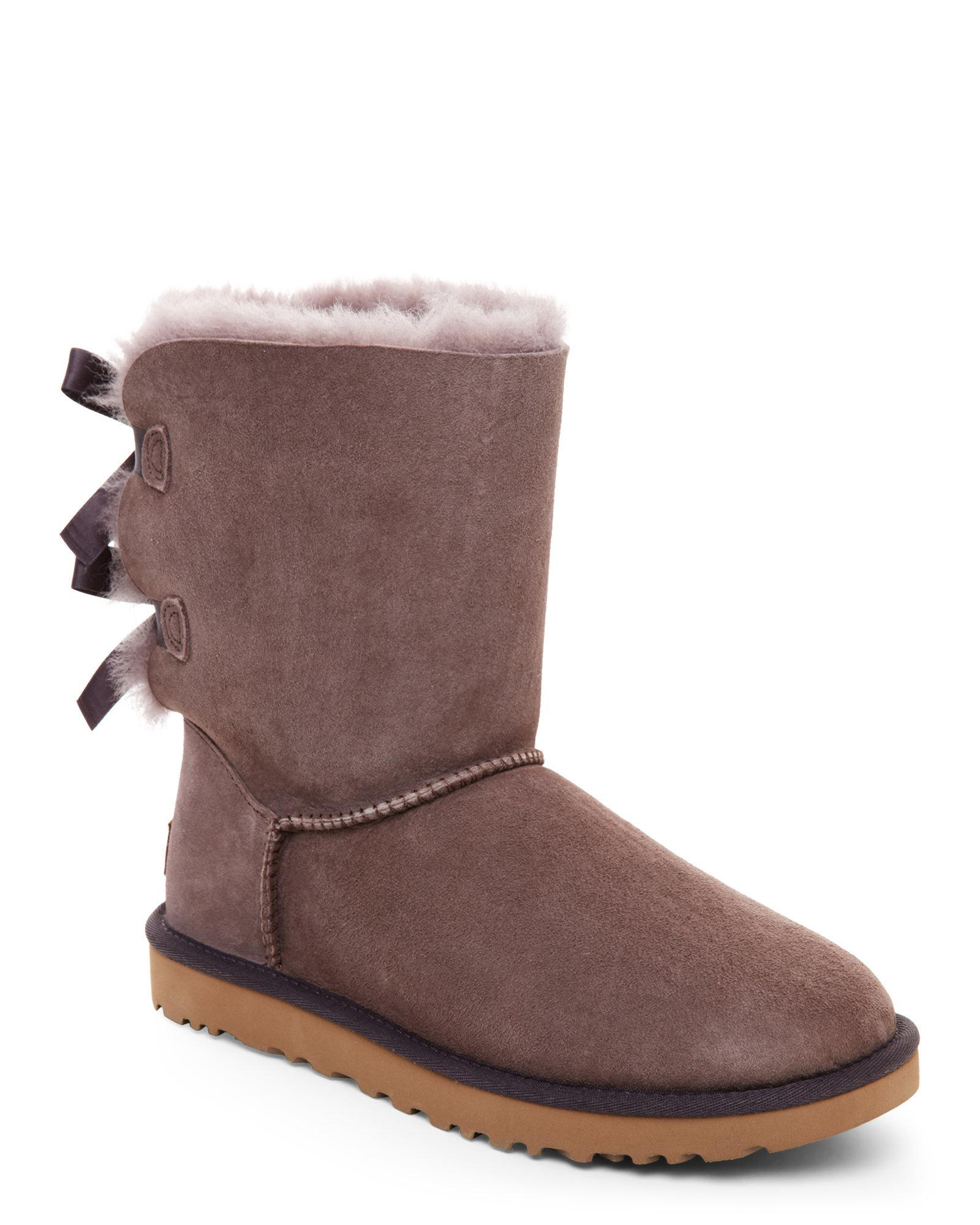 lyst ugg storm grey bailey bow ii boots in gray rh lyst com
