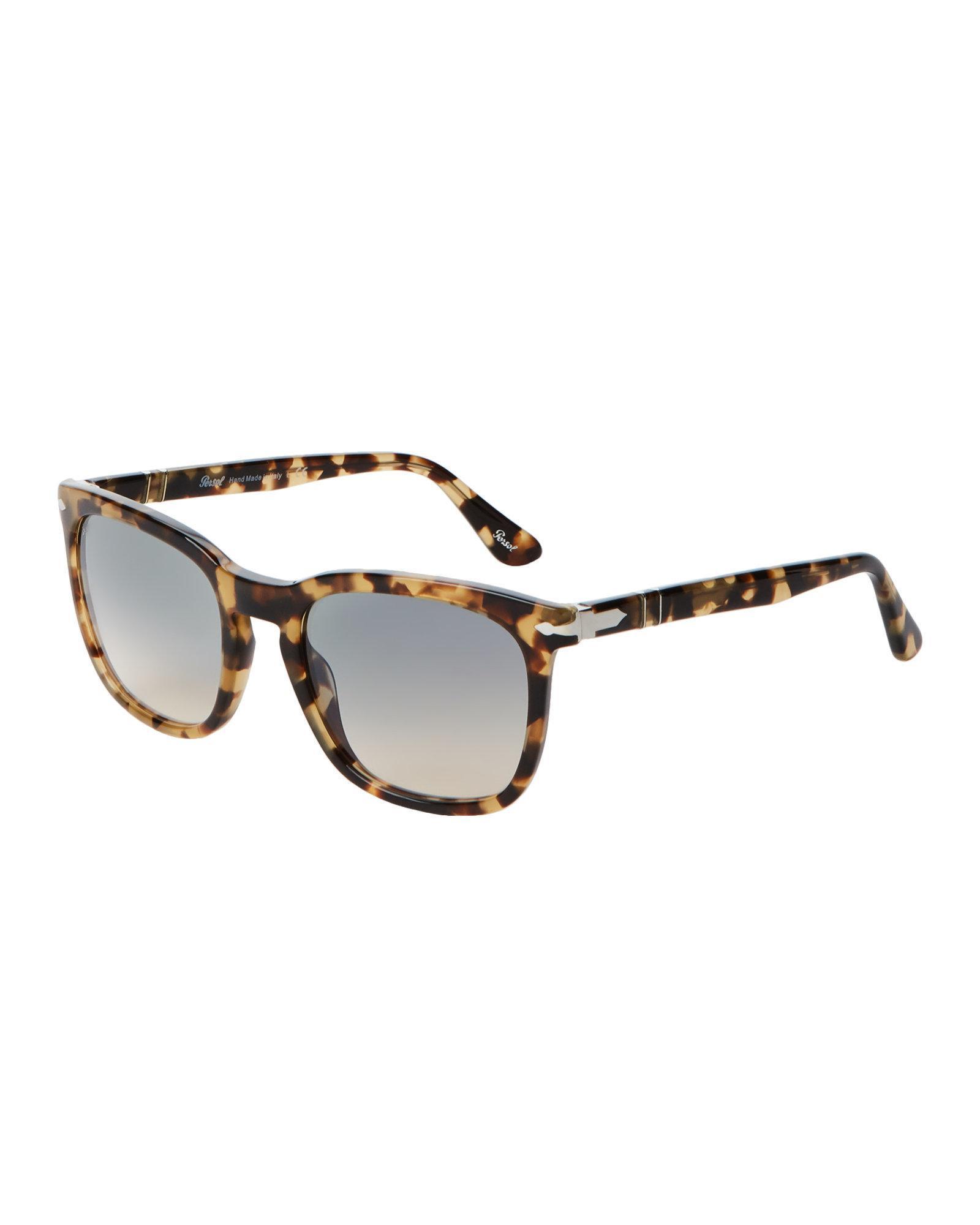 35aa1a89c4 Lyst - Persol Po3193s Biege   Tortoiseshell-look Square Sunglasses ...