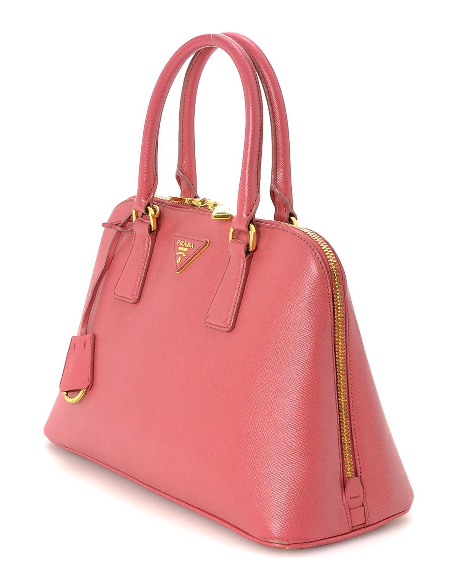 6b474bfa64f2 Prada Saffiano Two Way Handbag - Vintage in Pink - Lyst