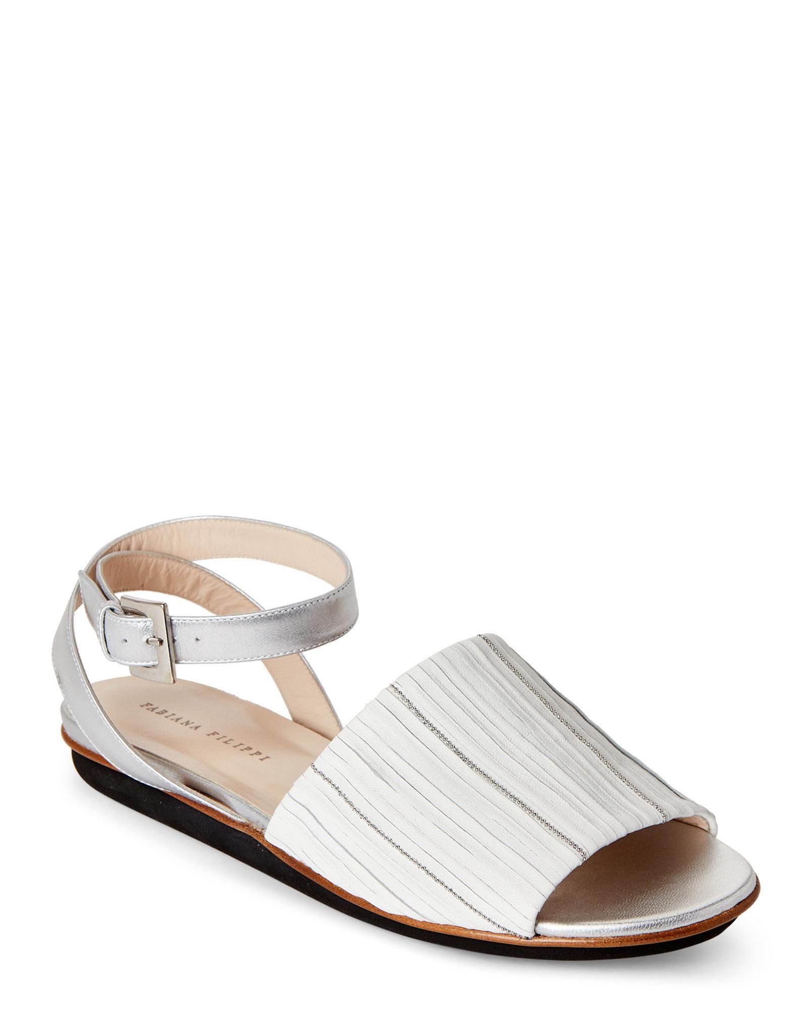 Fabiana Filippi Embellished ankle strap sandals rGv4fXojO2