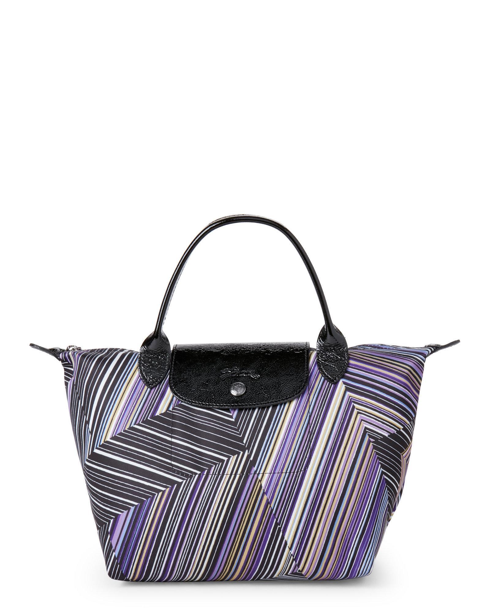Lyst - Longchamp Op Art Le Pliage Small Top Handle Bag ee5d63449ddd9