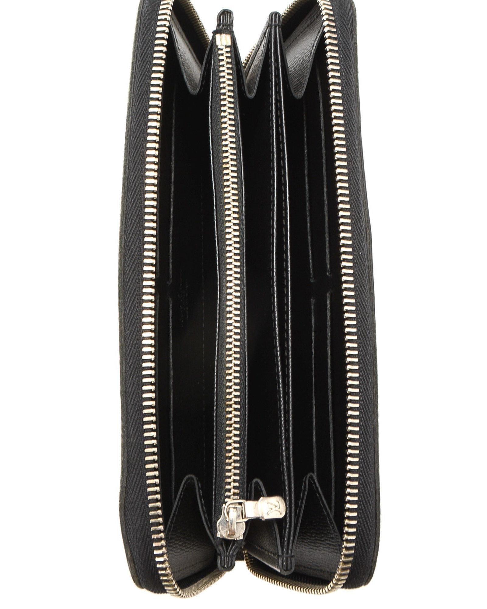 062b11a6b395 Lyst - Louis Vuitton Zippy Wallet - Vintage in Black