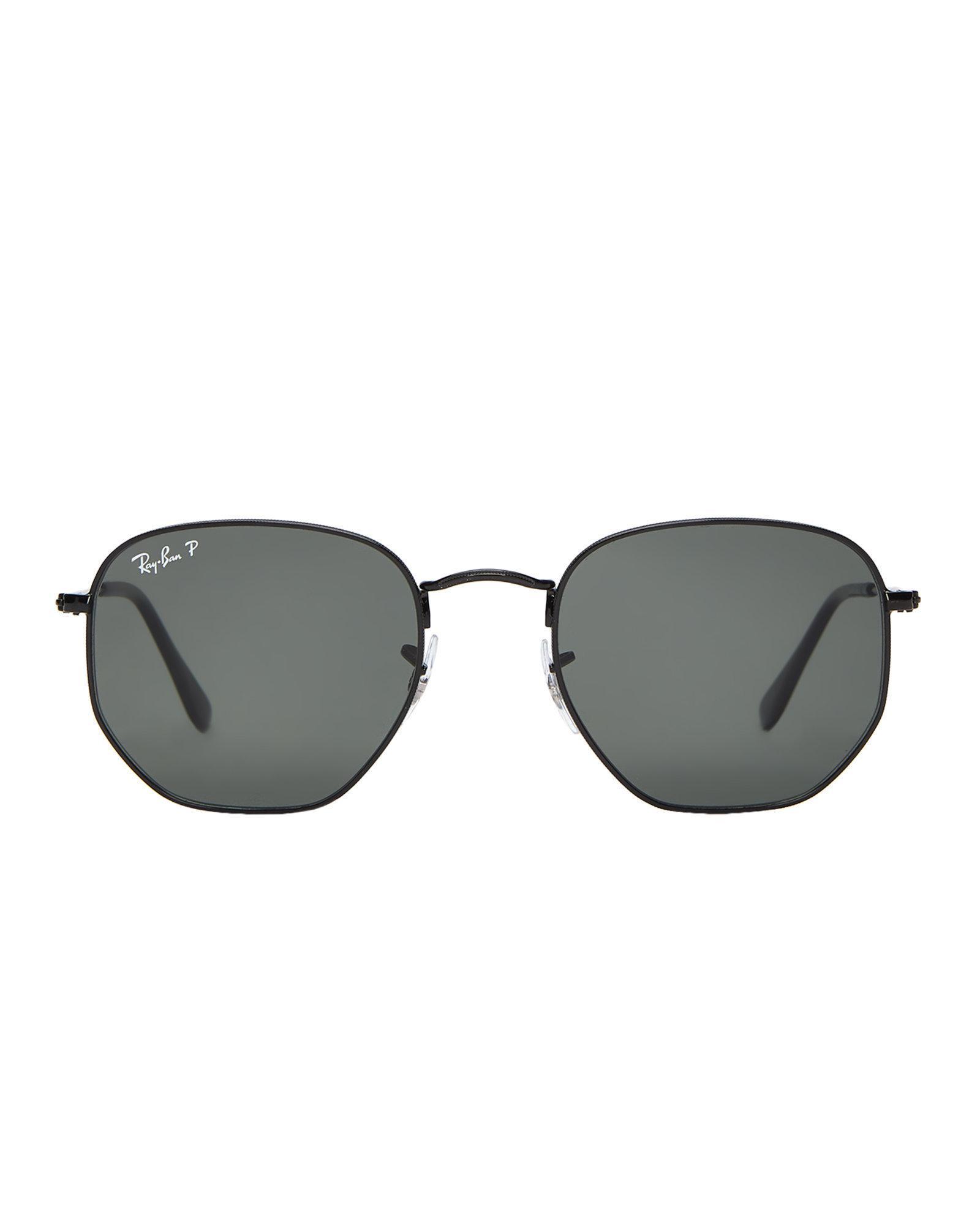 df20fc1fb728a Ray-Ban Rb 3548-n Black Polarized Hexagonal Sunglasses in Black - Lyst