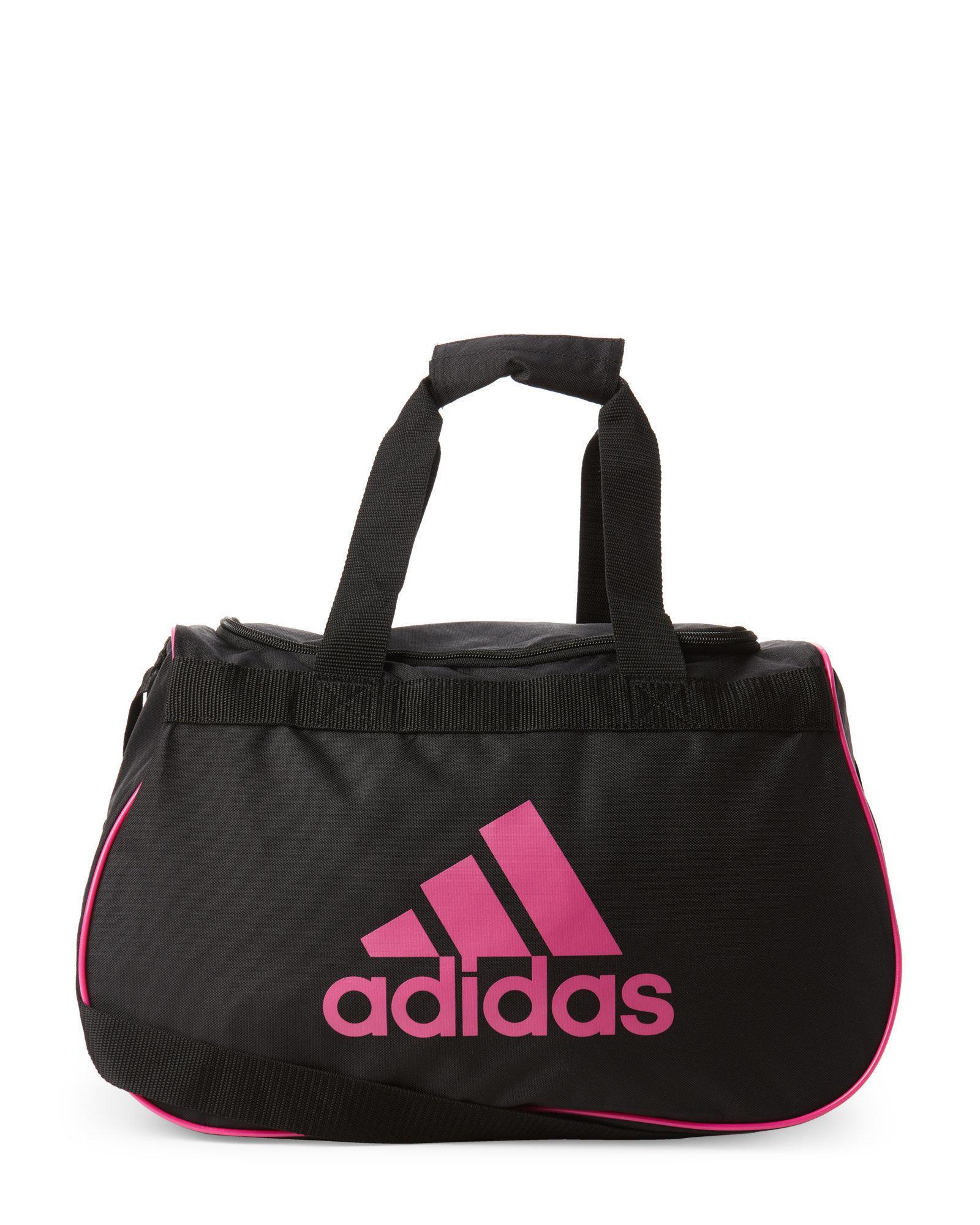 52ac70fc7ceb Lyst - adidas Black   Pink Diablo Small Duffel Bag in Black