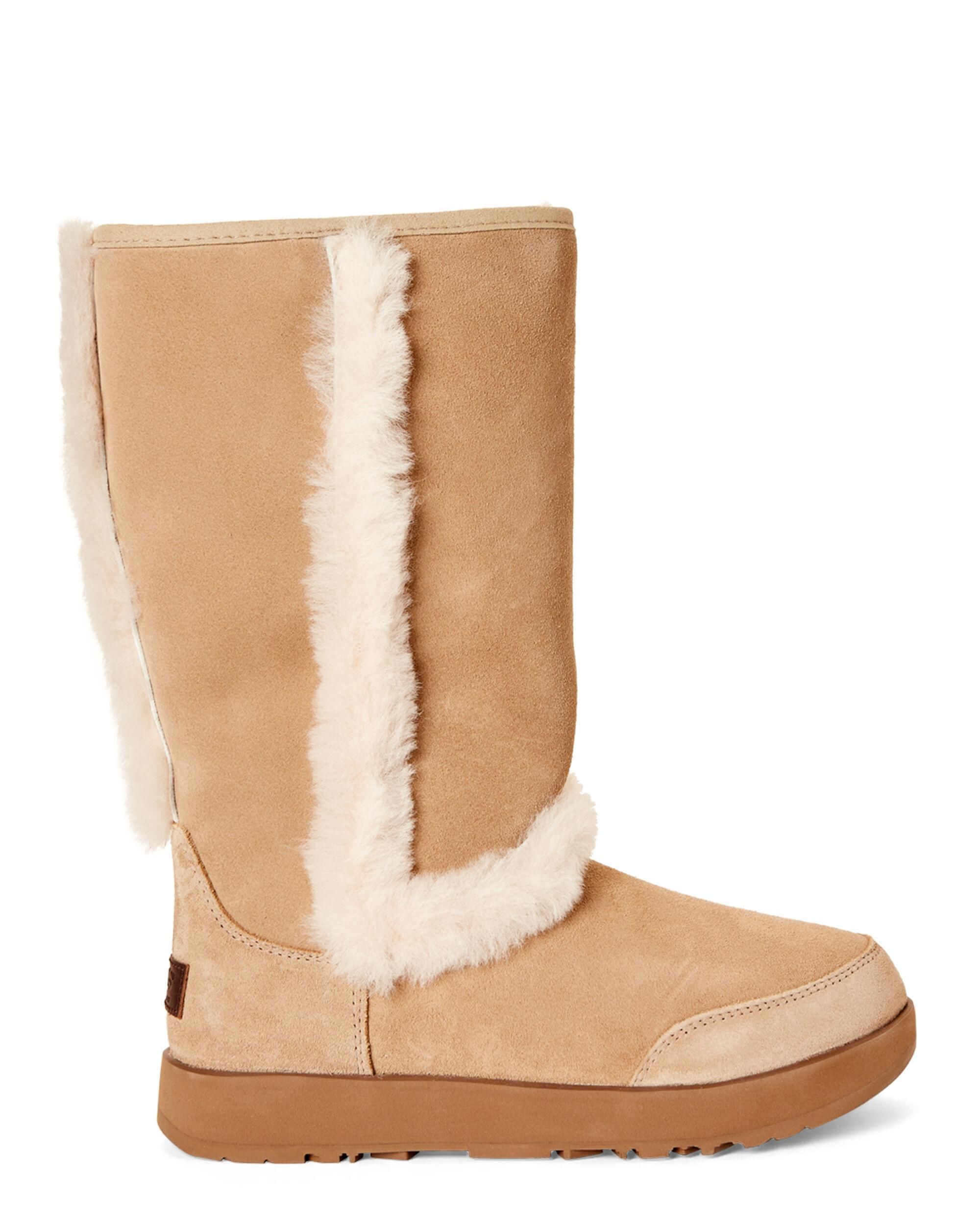 241a5fd074e UGG Sand Sundance Waterproof Real Fur Boots in Natural - Lyst