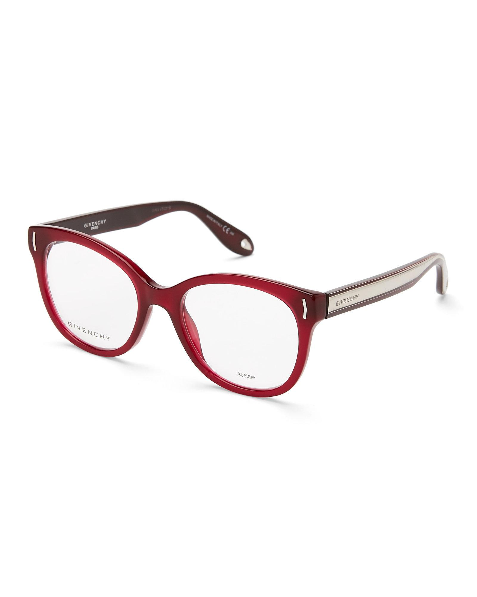 Lyst - Givenchy Burgundy Gv 0016 Burgundy Round Optical Frames in Red