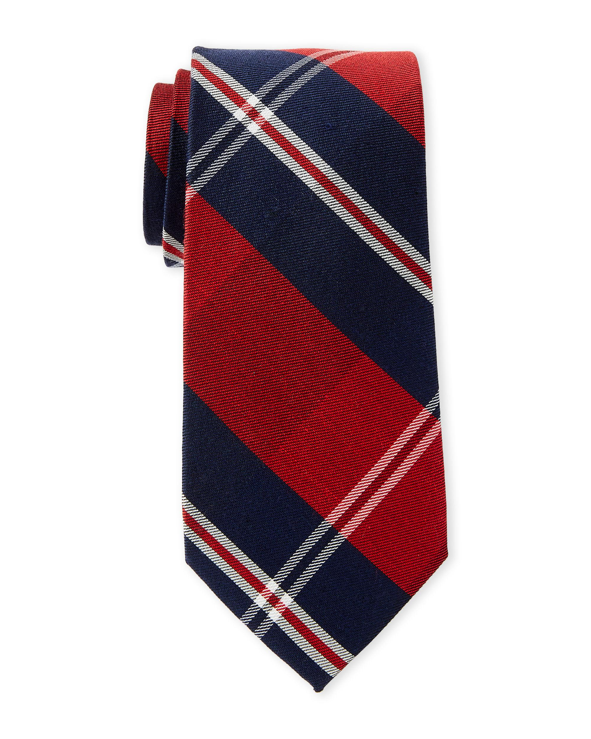 92ddd1e41d5f Lyst - Tommy Hilfiger Red Seaside Plaid Tie in Red for Men