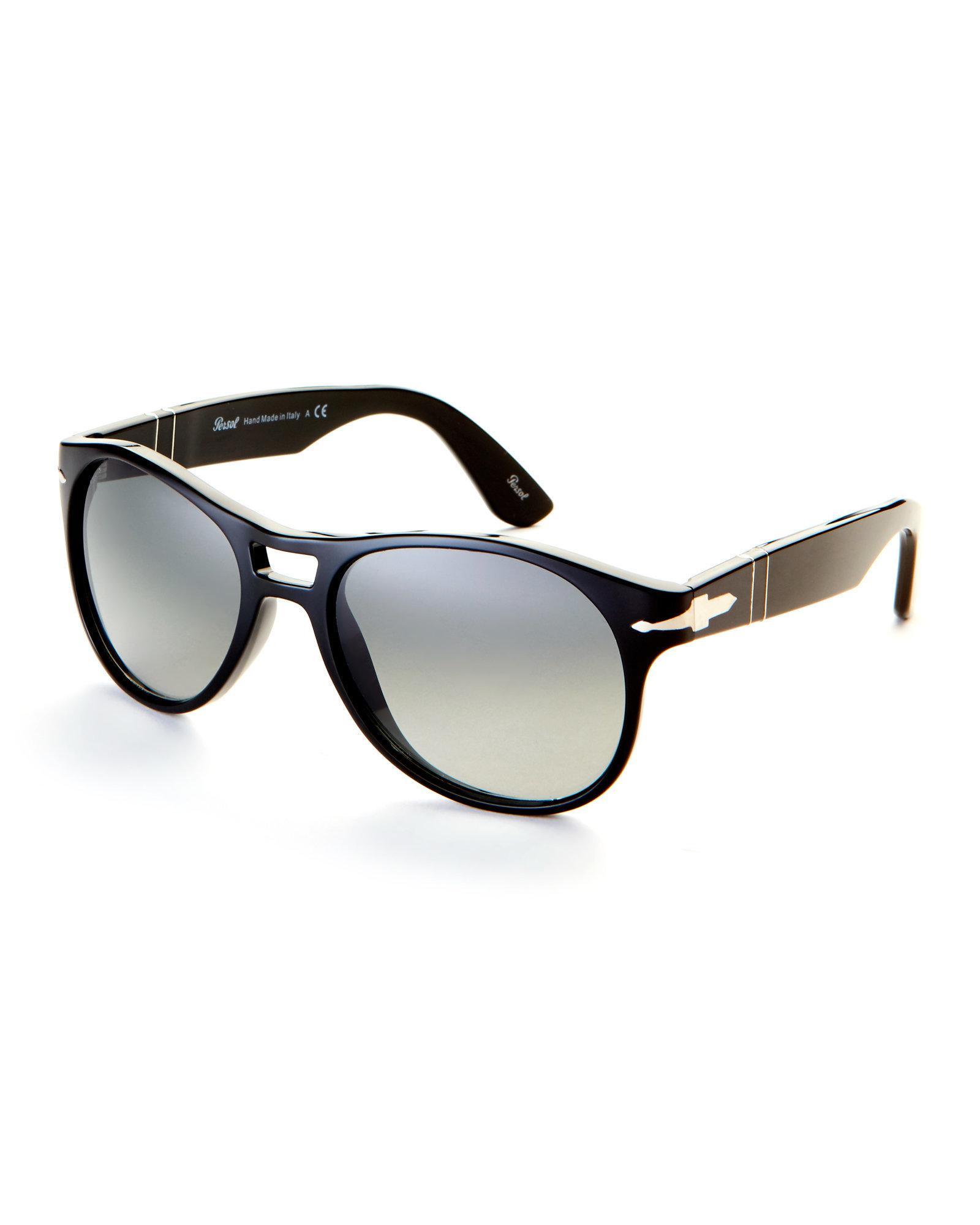 b2f65f31fe Persol Black Po3155 Aviator Sunglasses in Black - Lyst