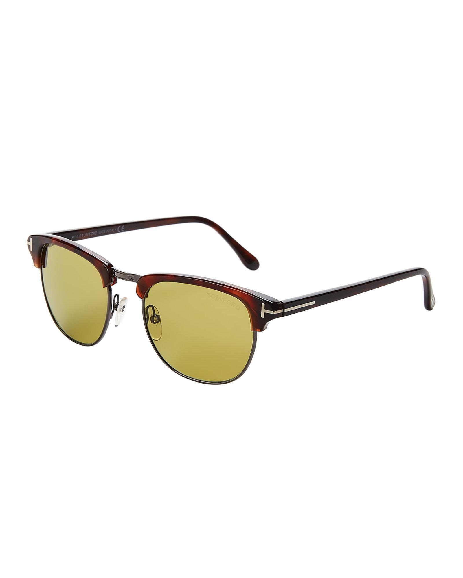 af066357df5 Gallery. Previously sold at  Century 21 · Women s Tom Ford Henry Women s  Clubmaster Sunglasses Women s Small Cat Eye ...