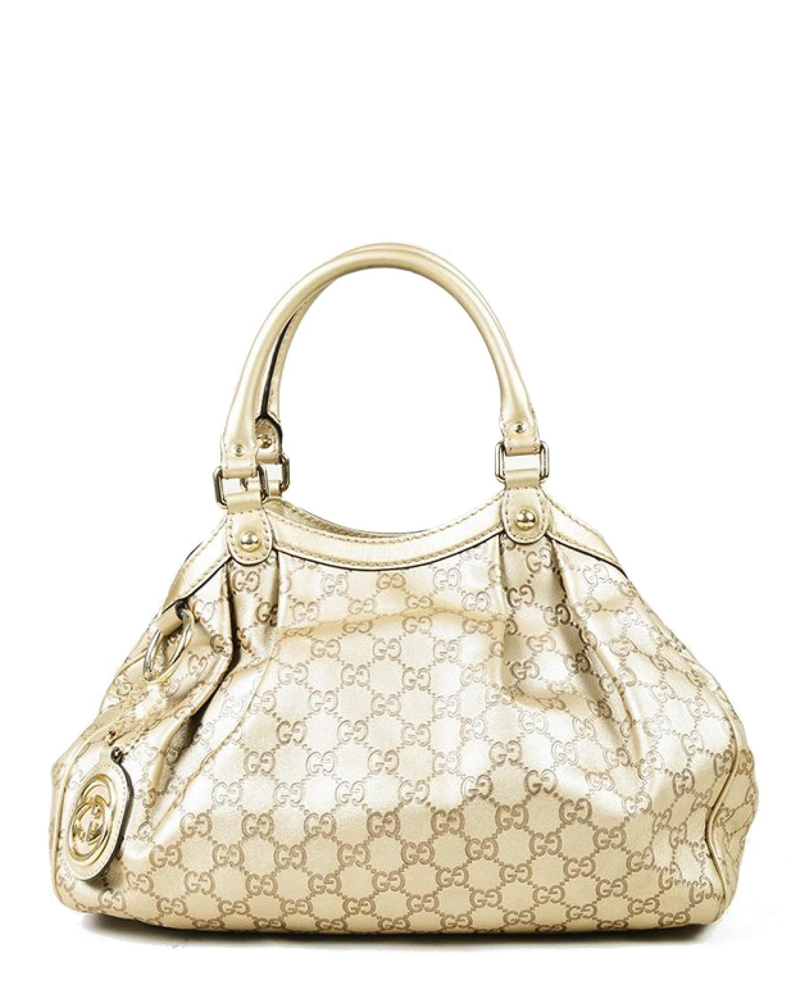 71f4ab20b5f3 Lyst - Gucci Sukey Ssima Shoulder Bag - Vintage in Metallic