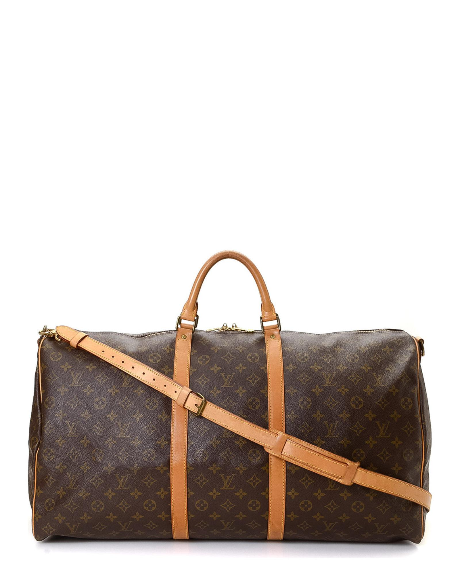 4a74cf2dcda1 Louis Vuitton Keepall 60 Bandouliere Travel Bag - Vintage in Brown ...