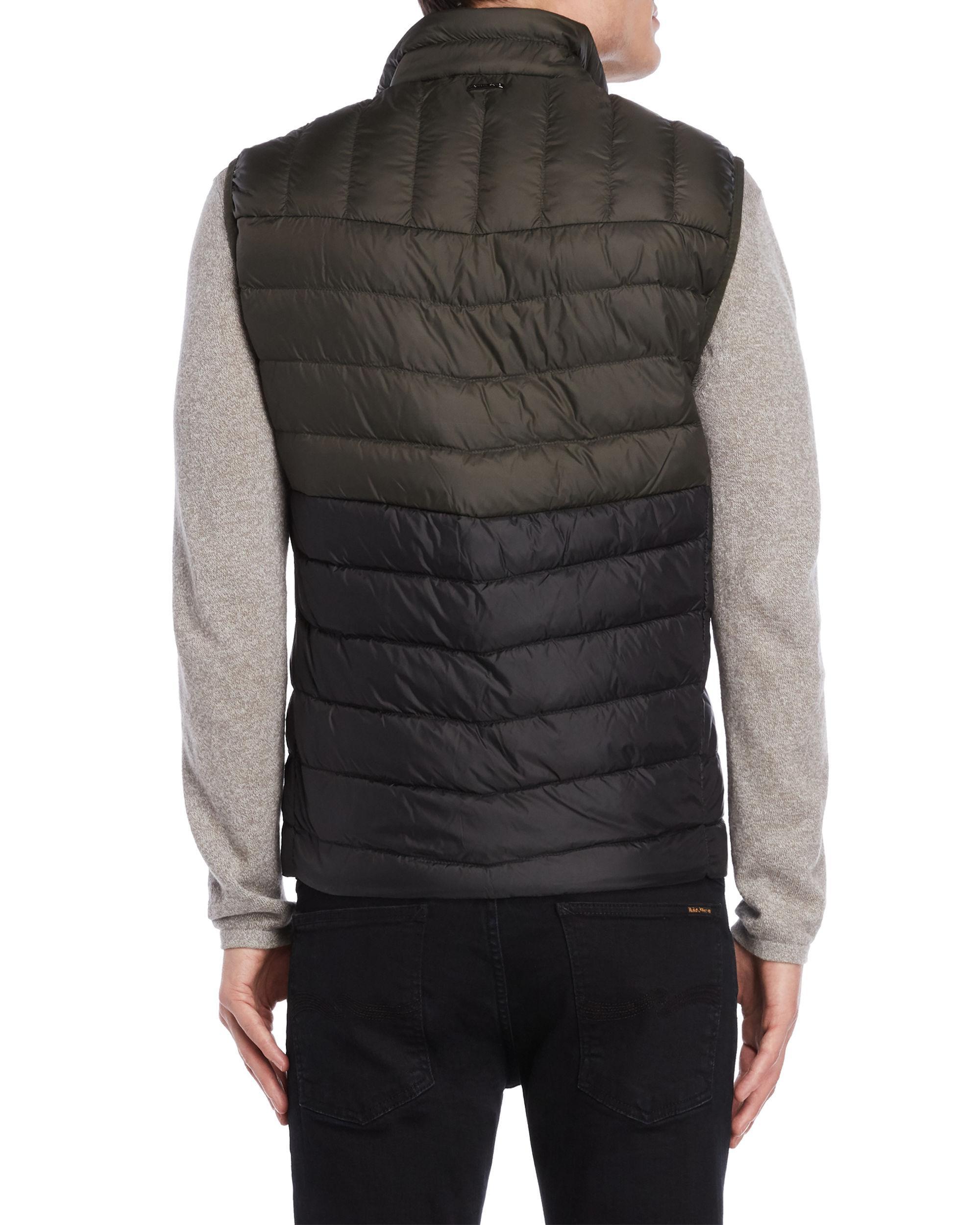12f706d8b1e93 Lyst - Michael Kors Two-tone Puffer Vest in Black for Men