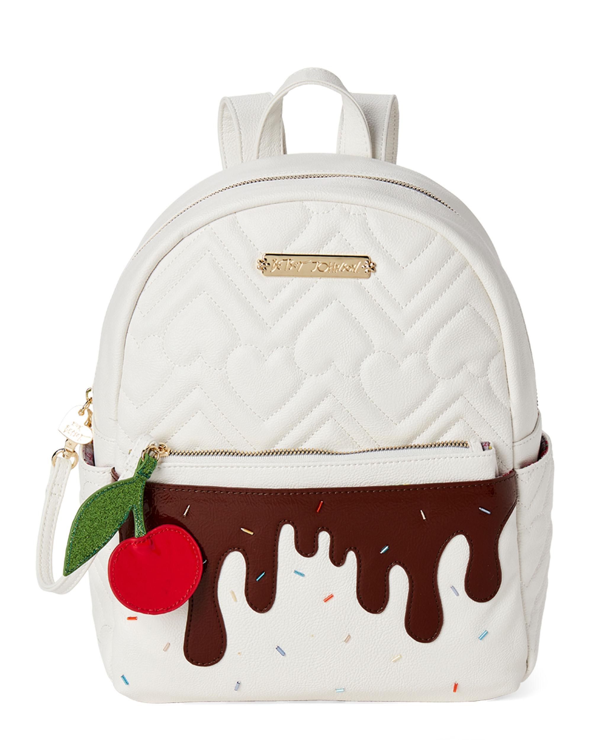 310bf5c46c Betsey Johnson. Women's Cream Strawberry Backpack