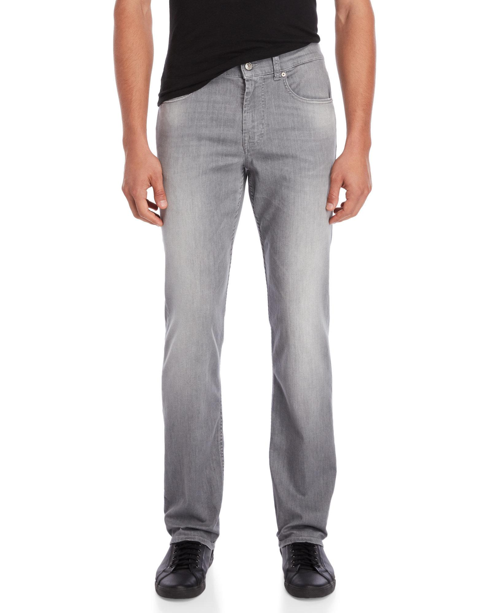 Lyst - 7 For All Mankind Grey Weightless Denim Slimmy Jeans in Gray ... b17d87e30