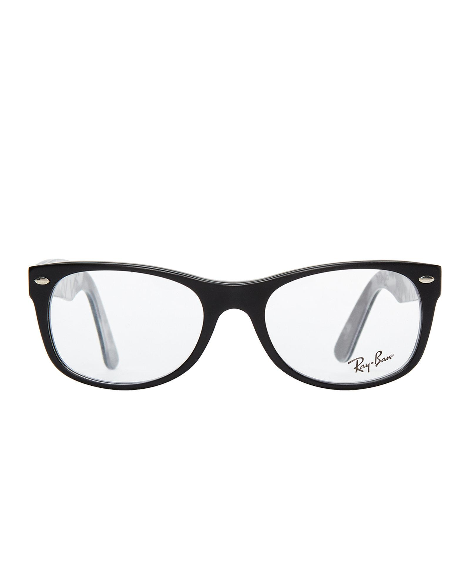 lyst ray ban rb5405 black oval optical frames in black Ray-Ban RB2132 52 gallery