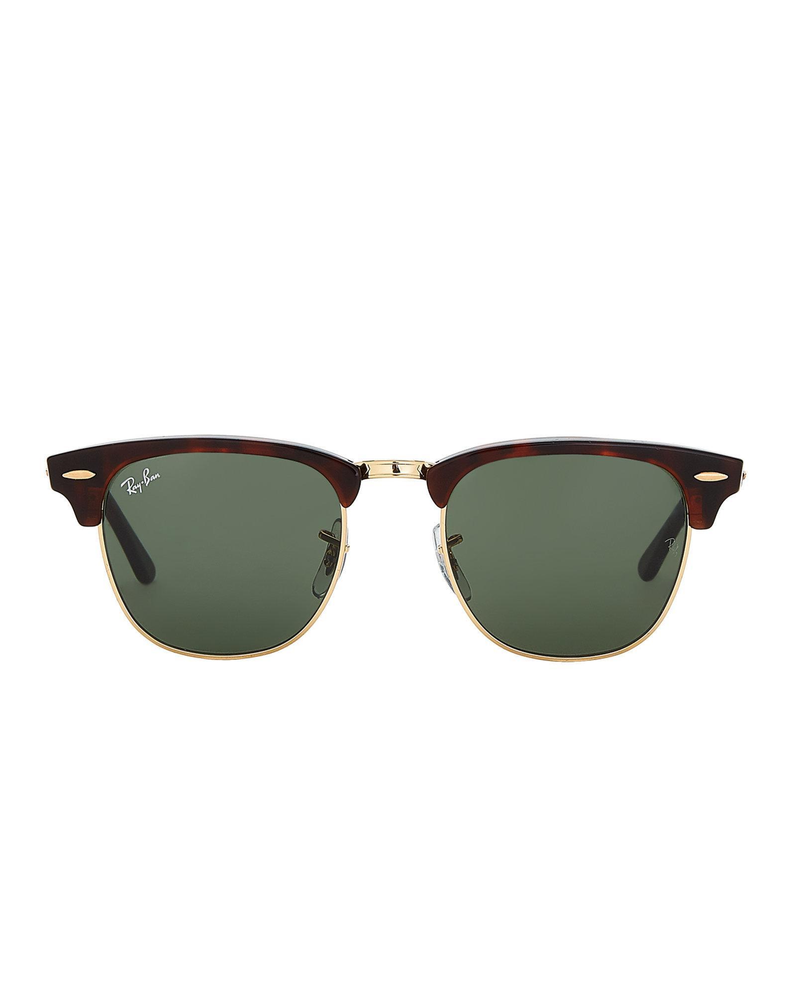 59de8bdee8 Lyst - Ray-Ban Rb 3016 Tortoiseshell-look Clubmaster Sunglasses