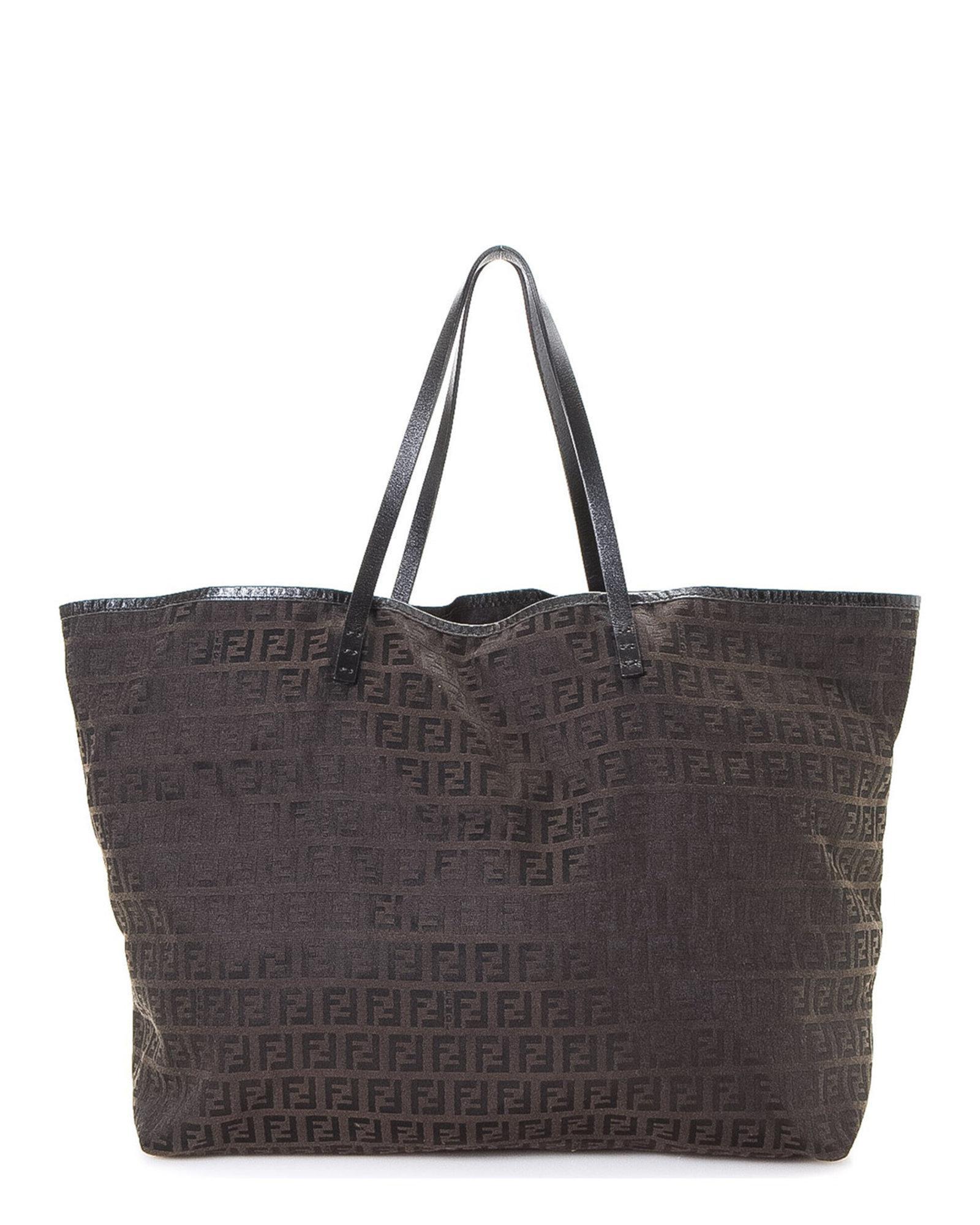 40c2b61fe787 Lyst - Fendi Zucchino Tote Bag - Vintage in Brown
