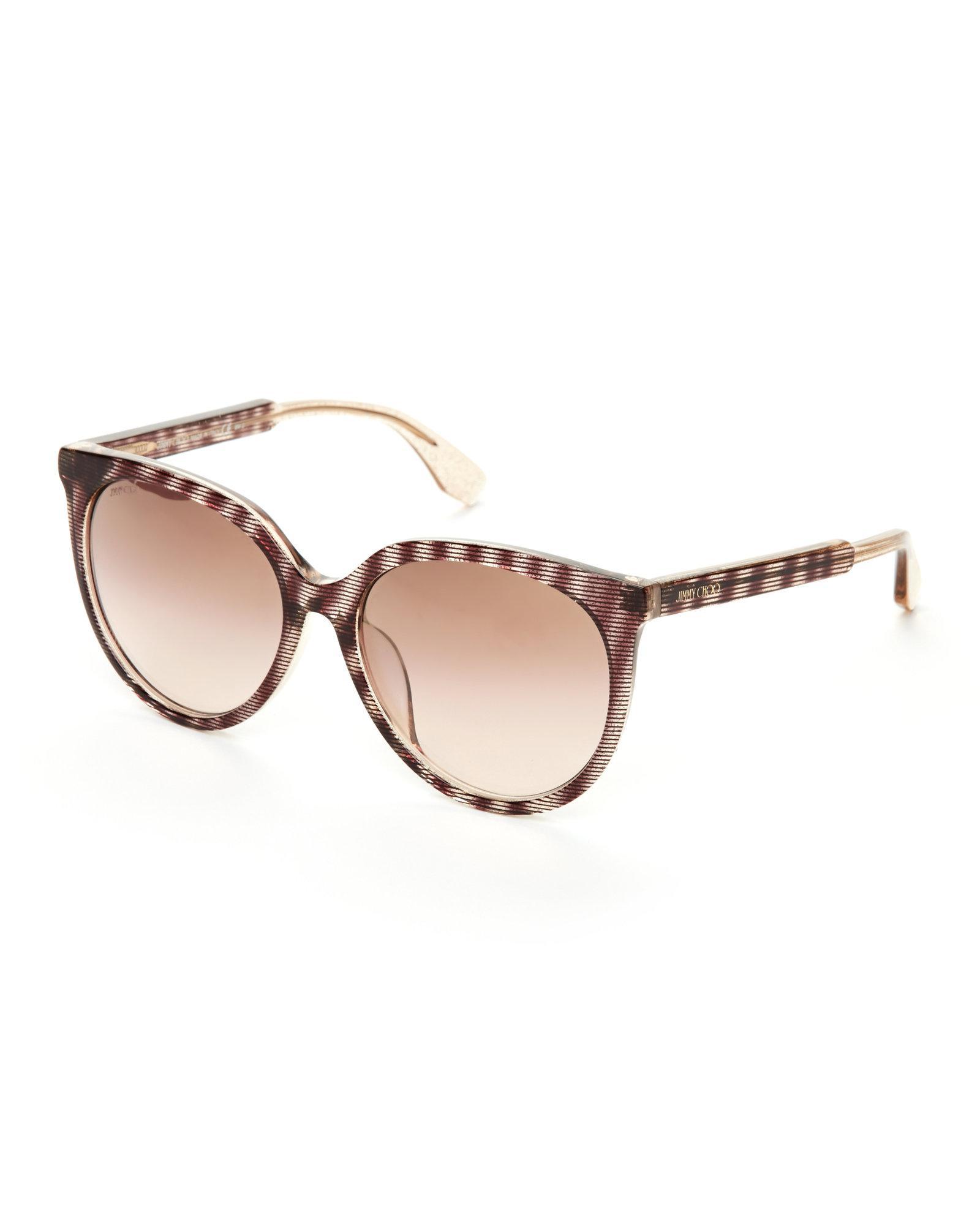 1190d91afe1 Lyst - Jimmy Choo Reece Cat Eye Sunglasses