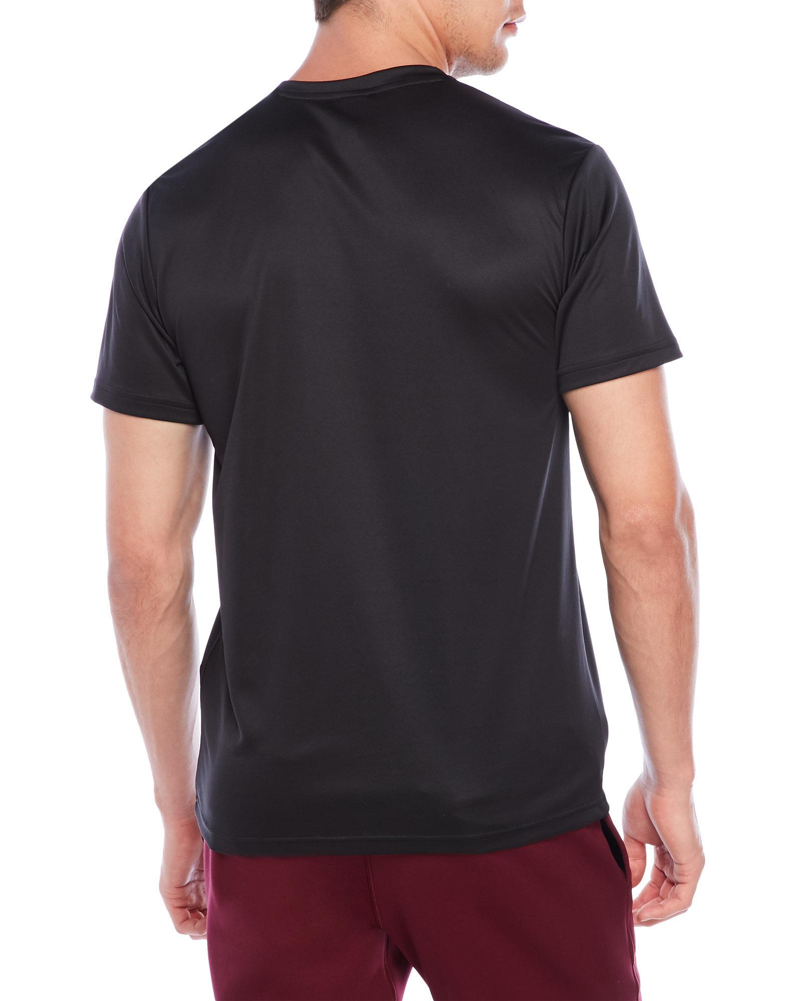 aa2423bca5d67 Lyst - Adidas V-neck Essentials Tech Tee in Black for Men