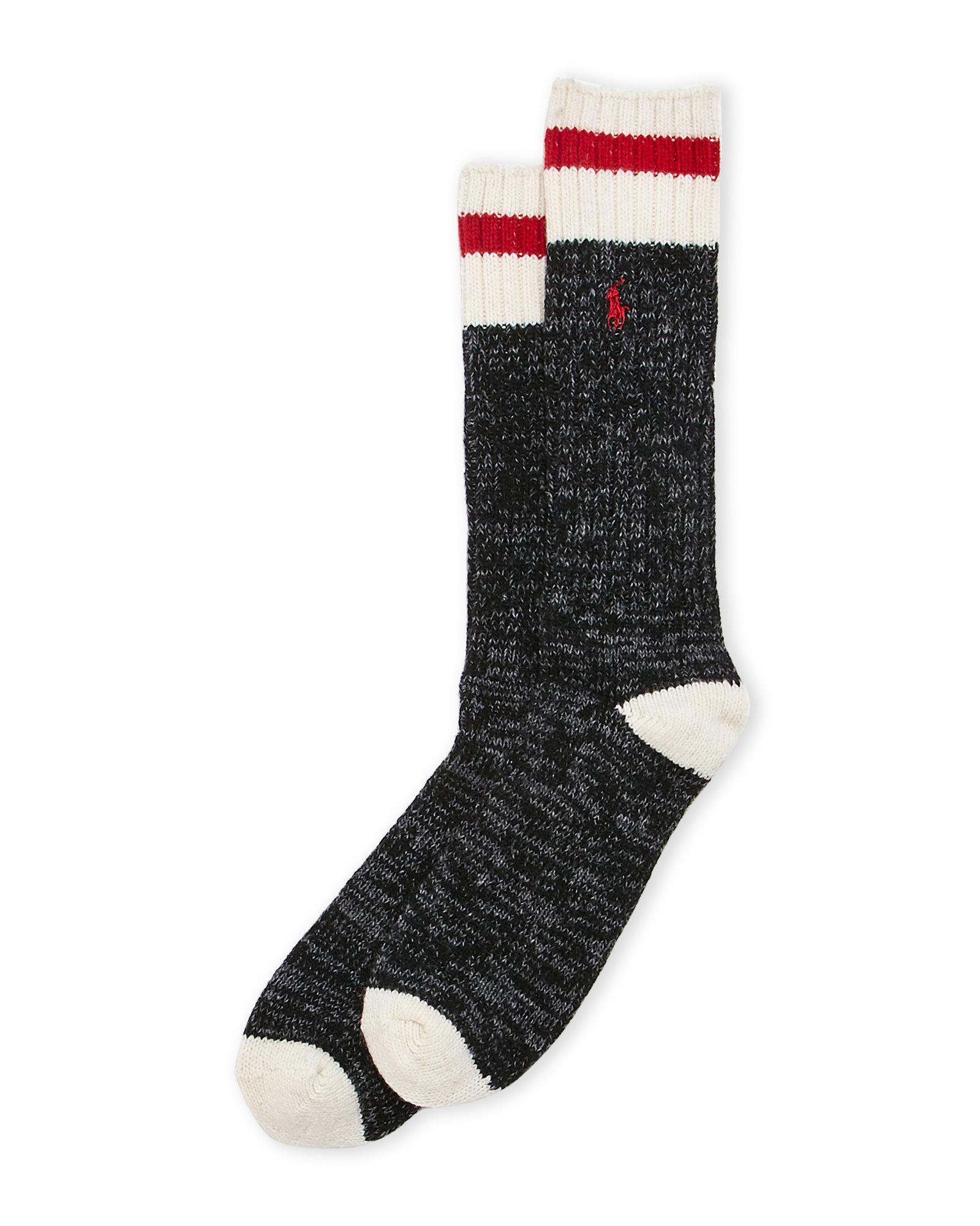 Lyst - Polo Ralph Lauren Raglan Boot Socks in Black for Men ac36956d649