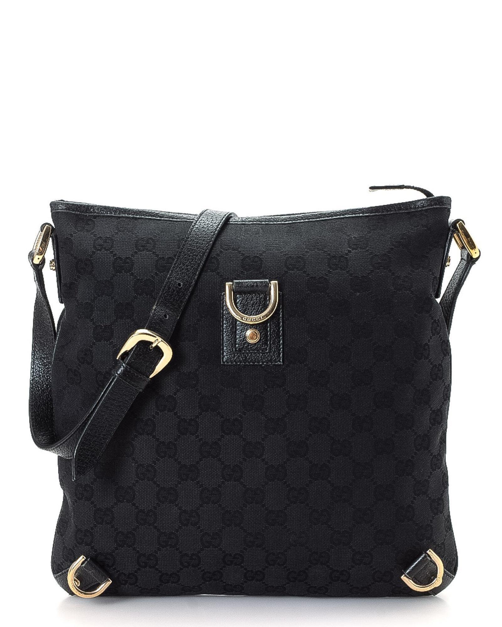 d2dea6efe49 Lyst - Gucci Gg Canvas Shoulder Bag - Vintage in Black