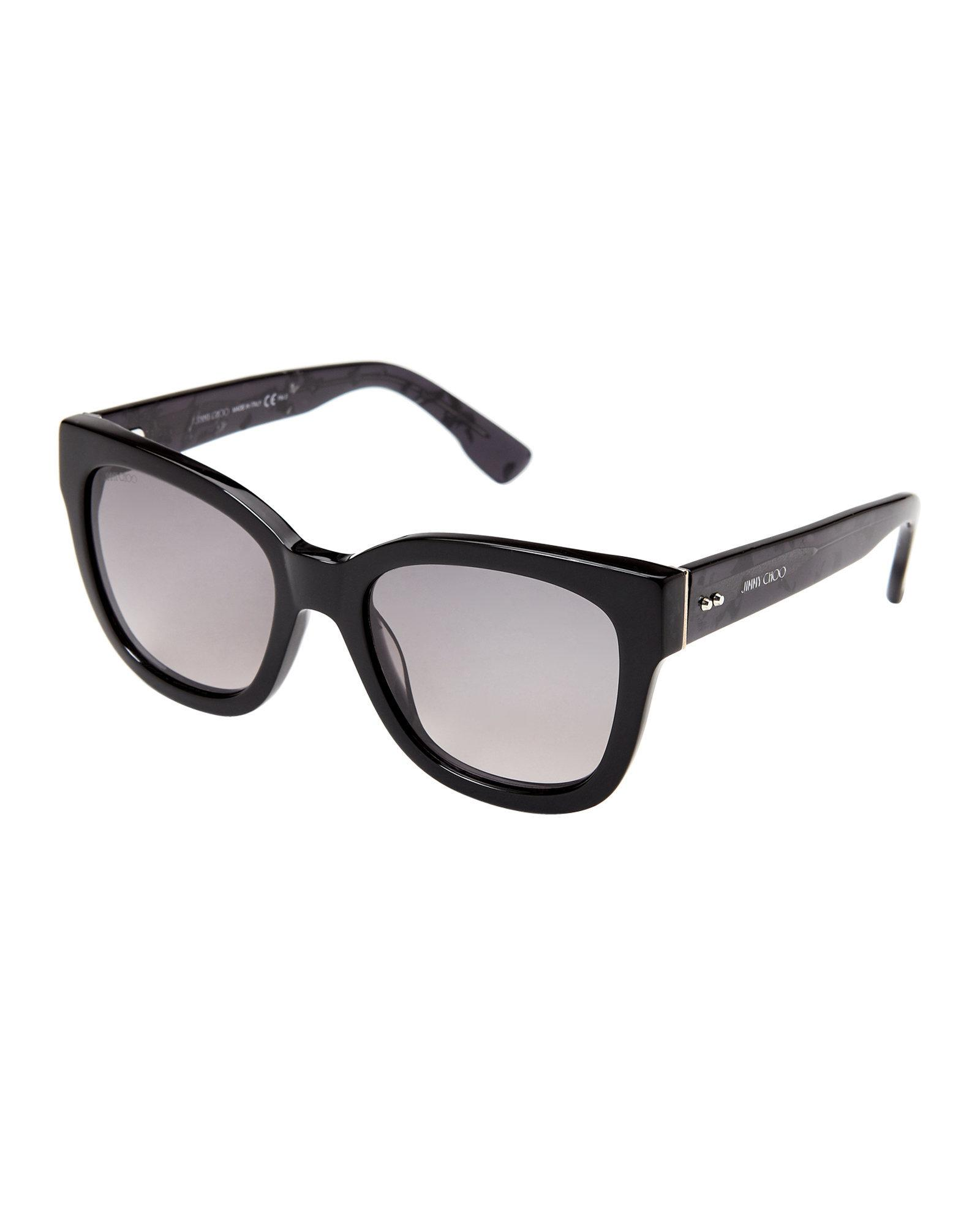 c165173c0fe Lyst - Jimmy Choo Black Otti Wayfarer Sunglasses in Black
