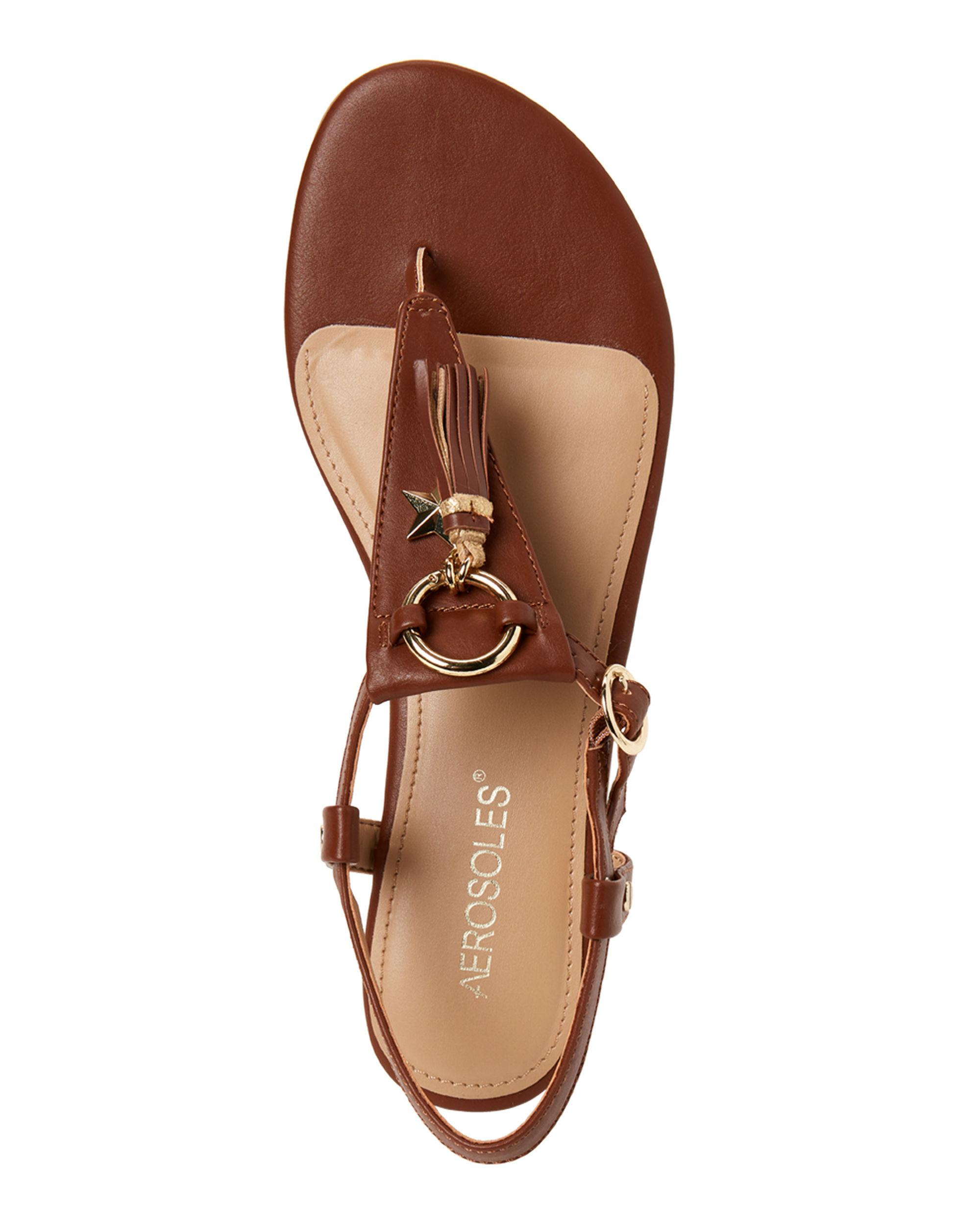 444e9d39e065 Aerosoles - Brown Dark Tan Short Circuit Thong Sandals - Lyst. View  fullscreen