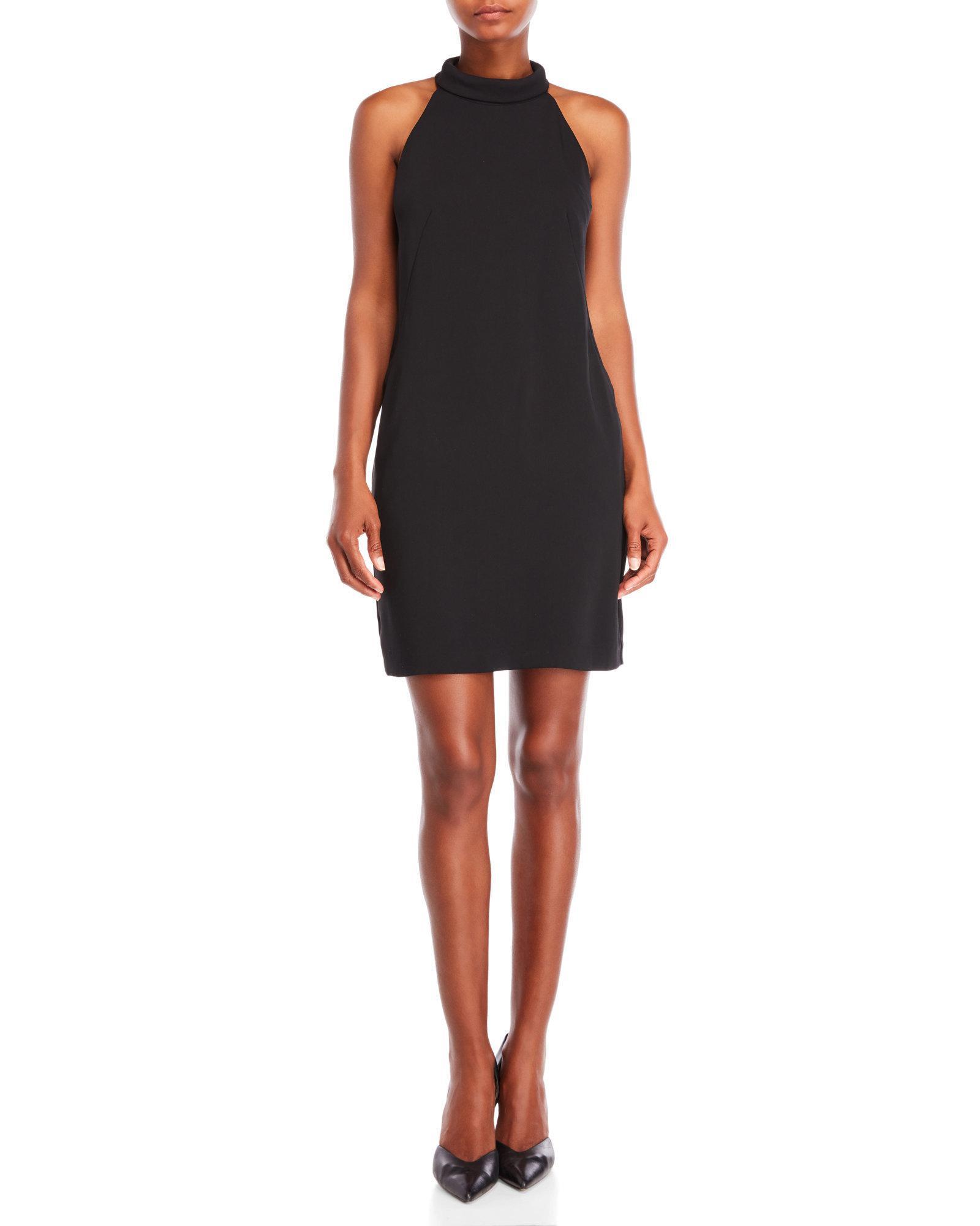 e1854154178 Lyst - Reiss Black Venice Open Back Dress in Black
