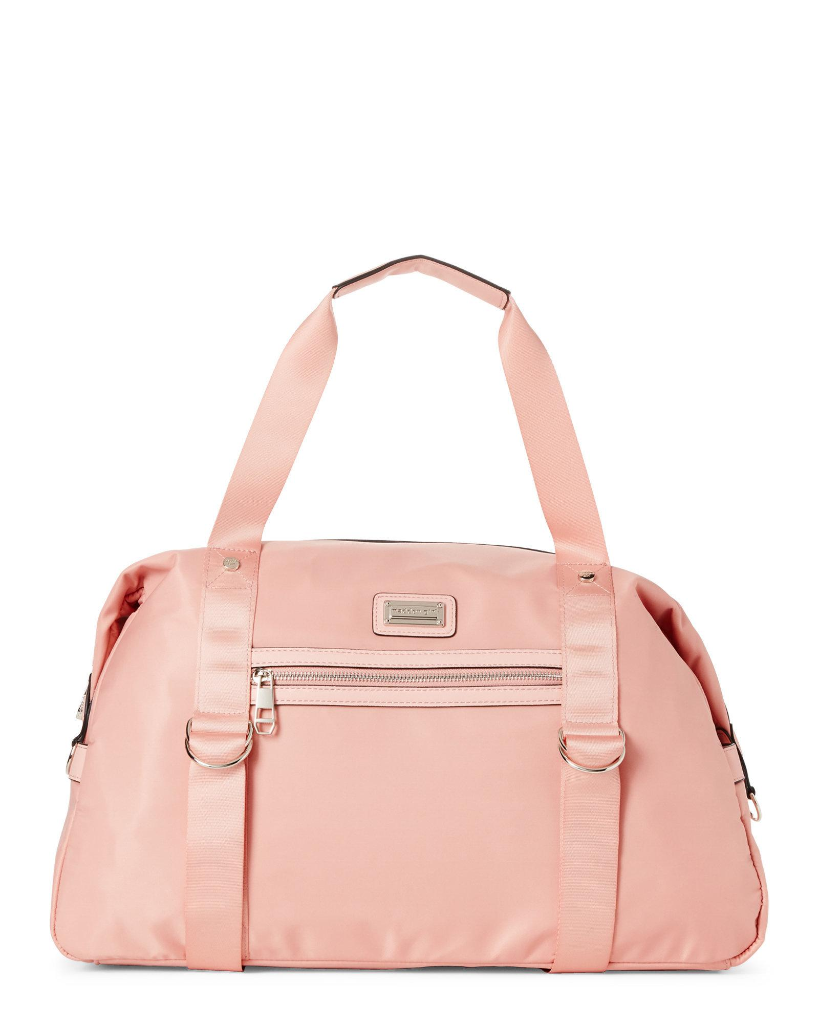 e894f9336f7e Lyst - Madden Girl Dusty Rose Nylon Overnighter Duffel in Pink
