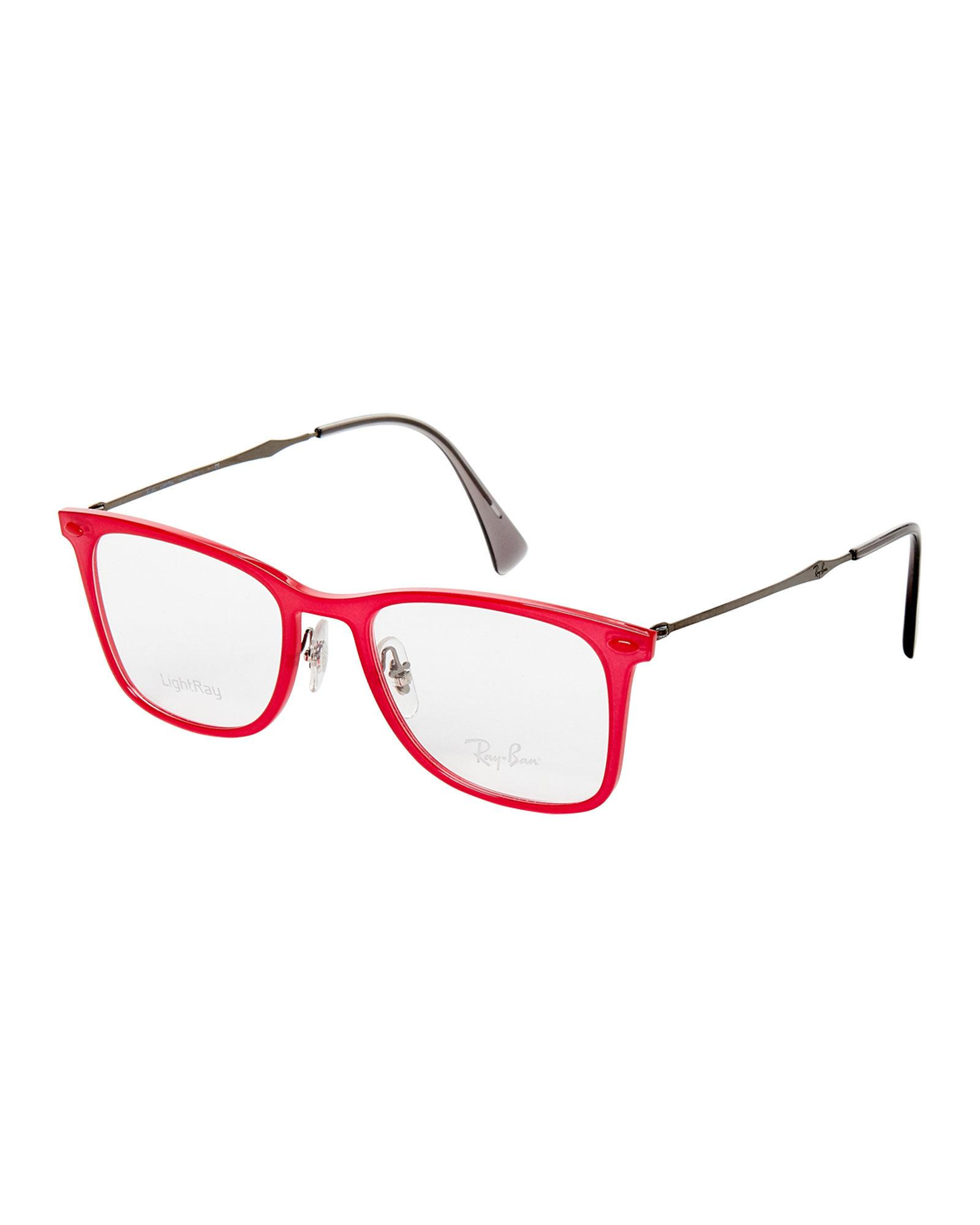 Lyst - Ray-Ban Rb7086 Red Lightray Square Optical Frames in Red