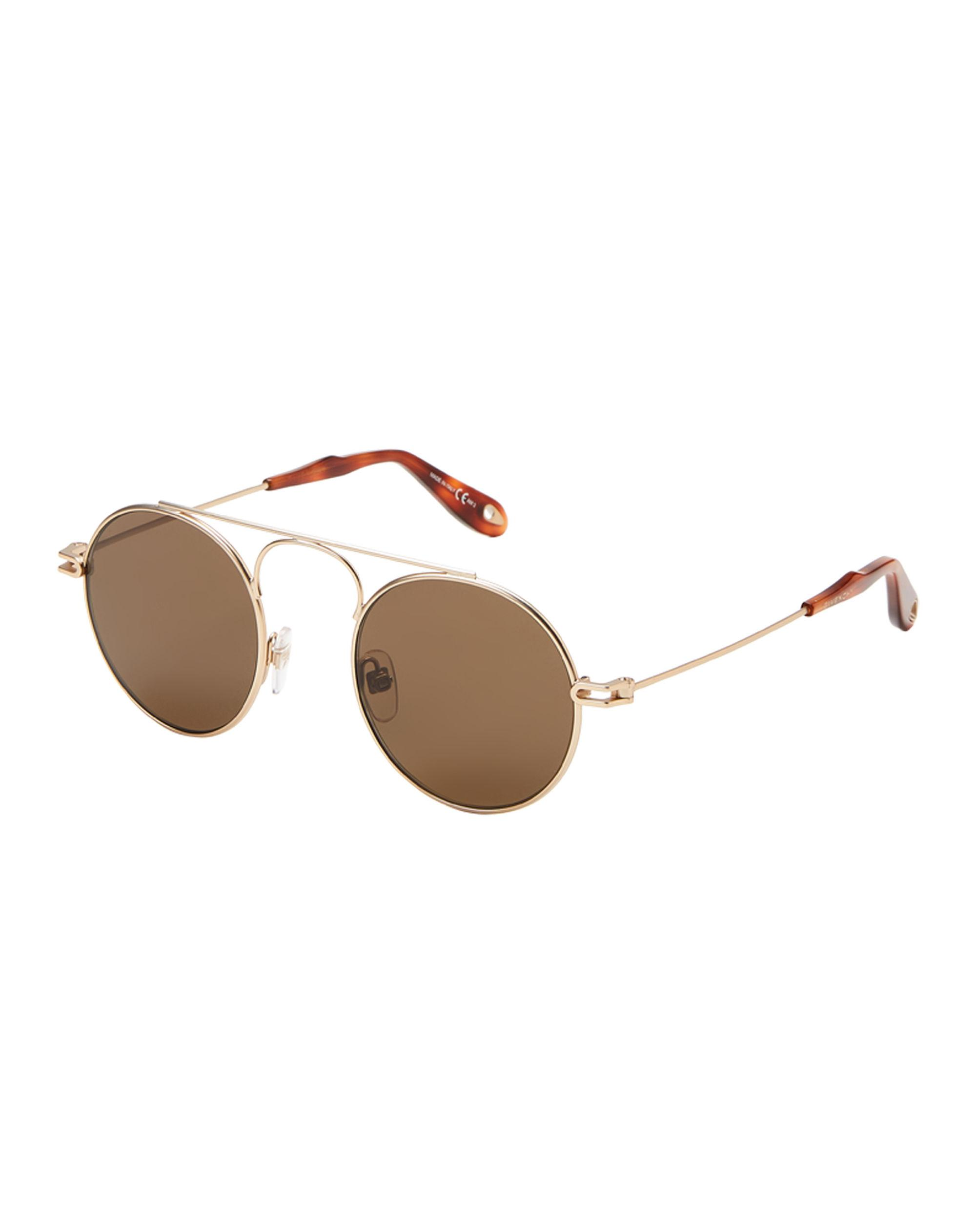 34f82bfc2db7b Lyst - Givenchy Gv7054 s Gold-tone Round Sunglasses for Men