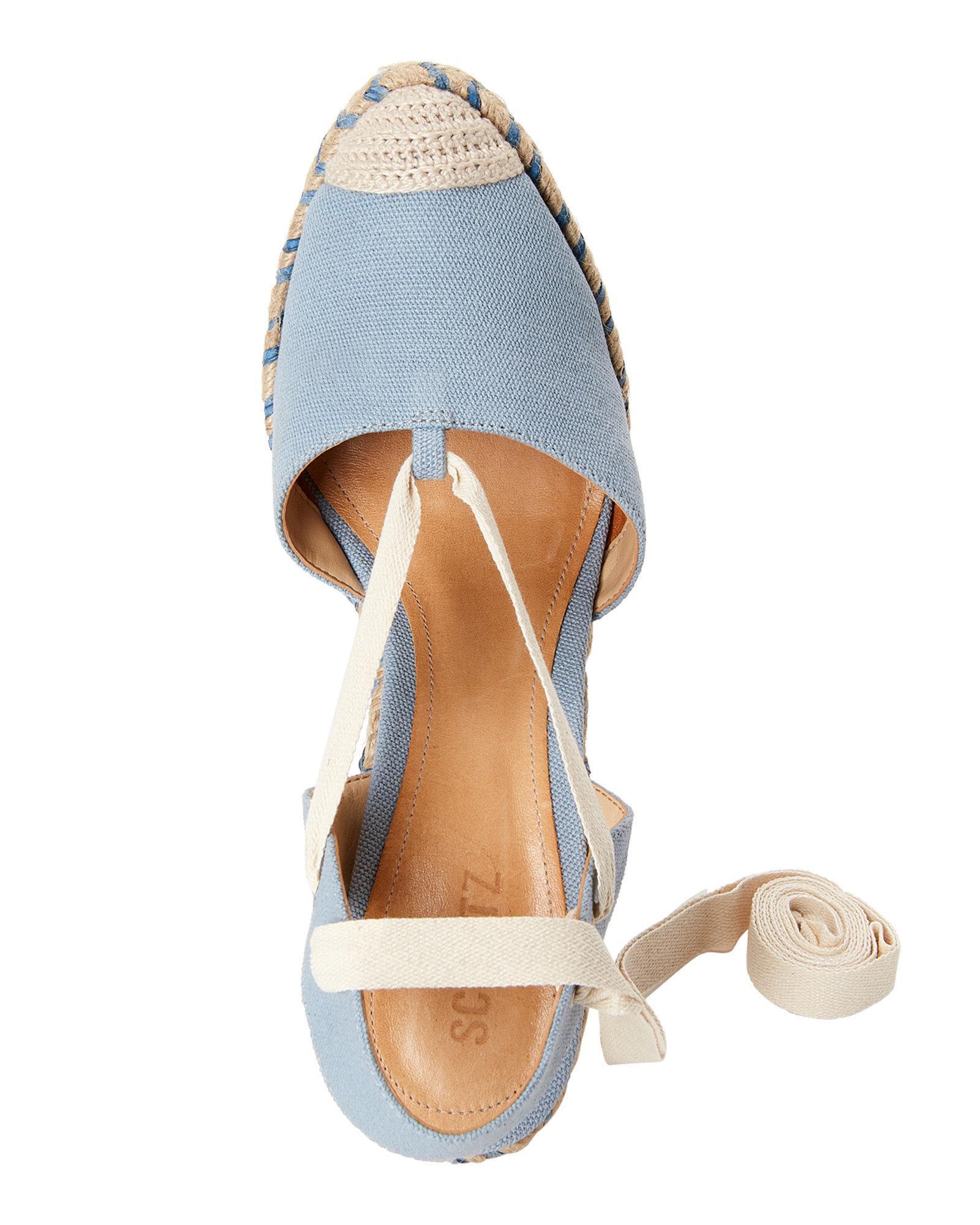 cd39db44f435 Lyst - Schutz Jeans Lona Espadrille Wedge Espadrille Sandals in Blue